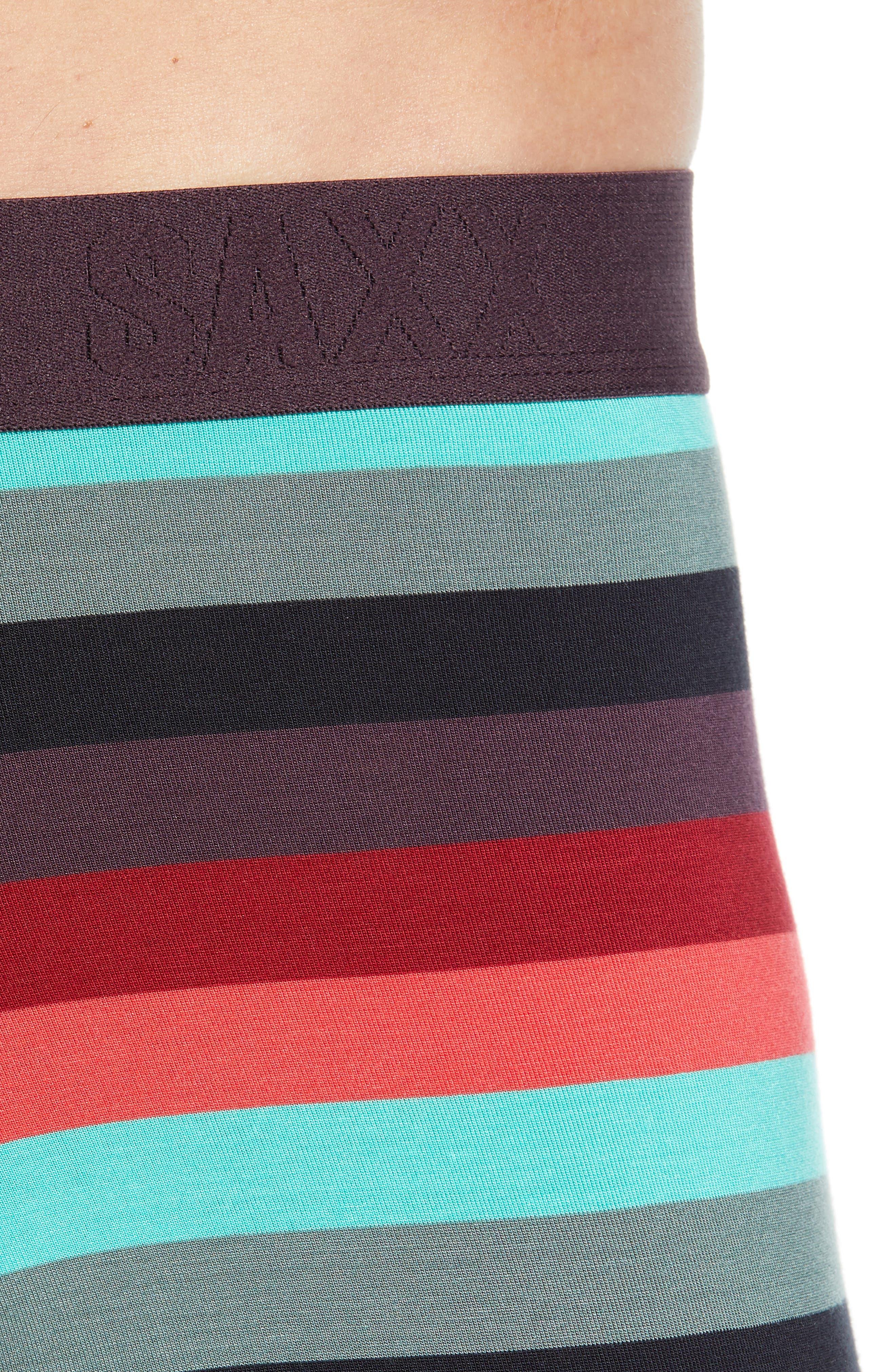 Ultra Cabana Stripe Stretch Boxer Briefs,                             Alternate thumbnail 4, color,                             BERRY CABANA STRIPE