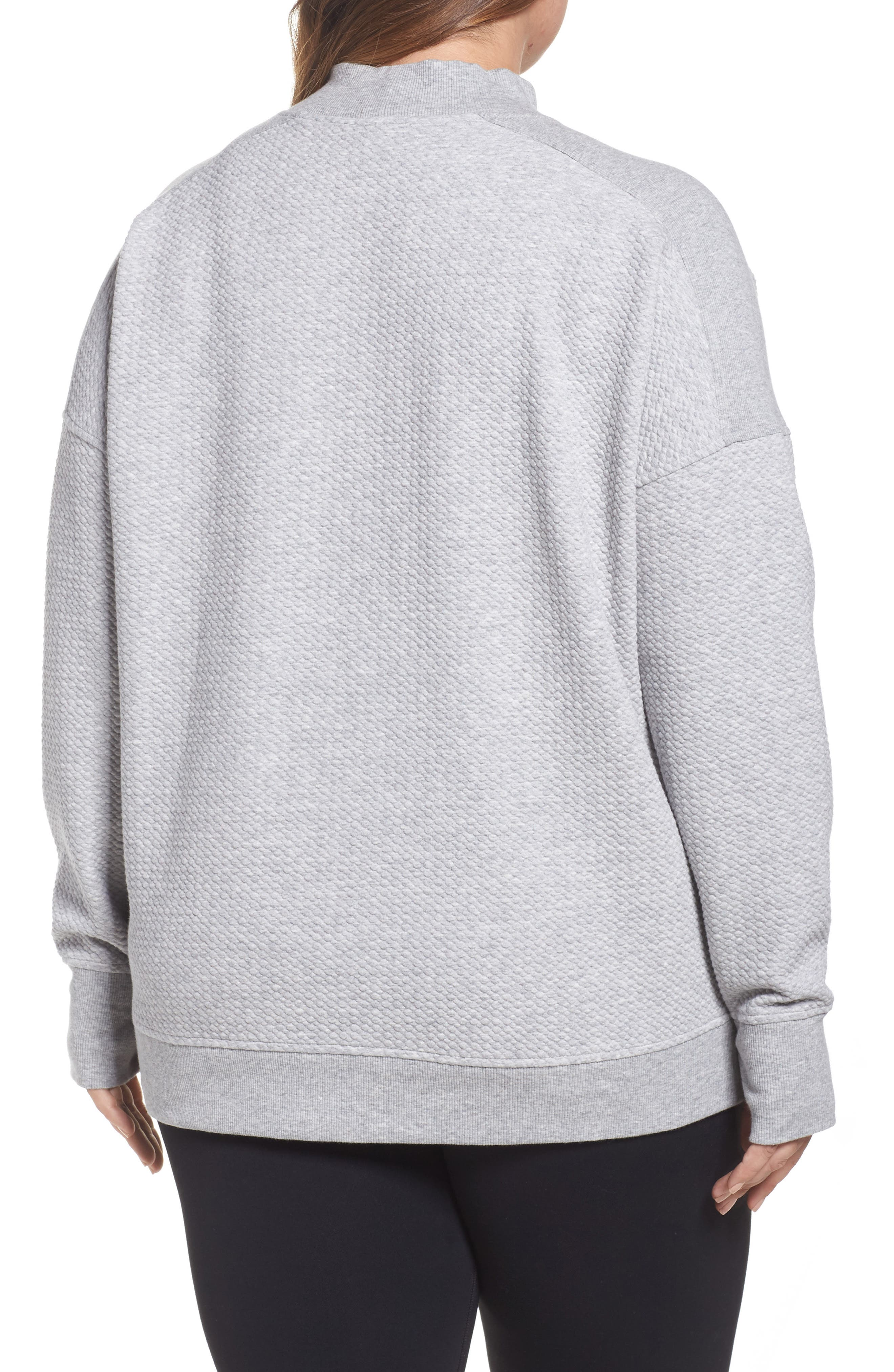 Textured Sweatshirt,                             Alternate thumbnail 2, color,                             050