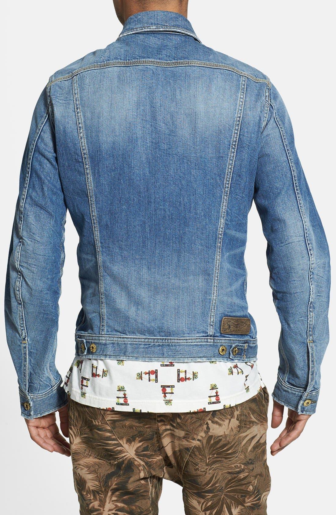 'Jinka' Denim Jacket,                             Alternate thumbnail 5, color,                             400