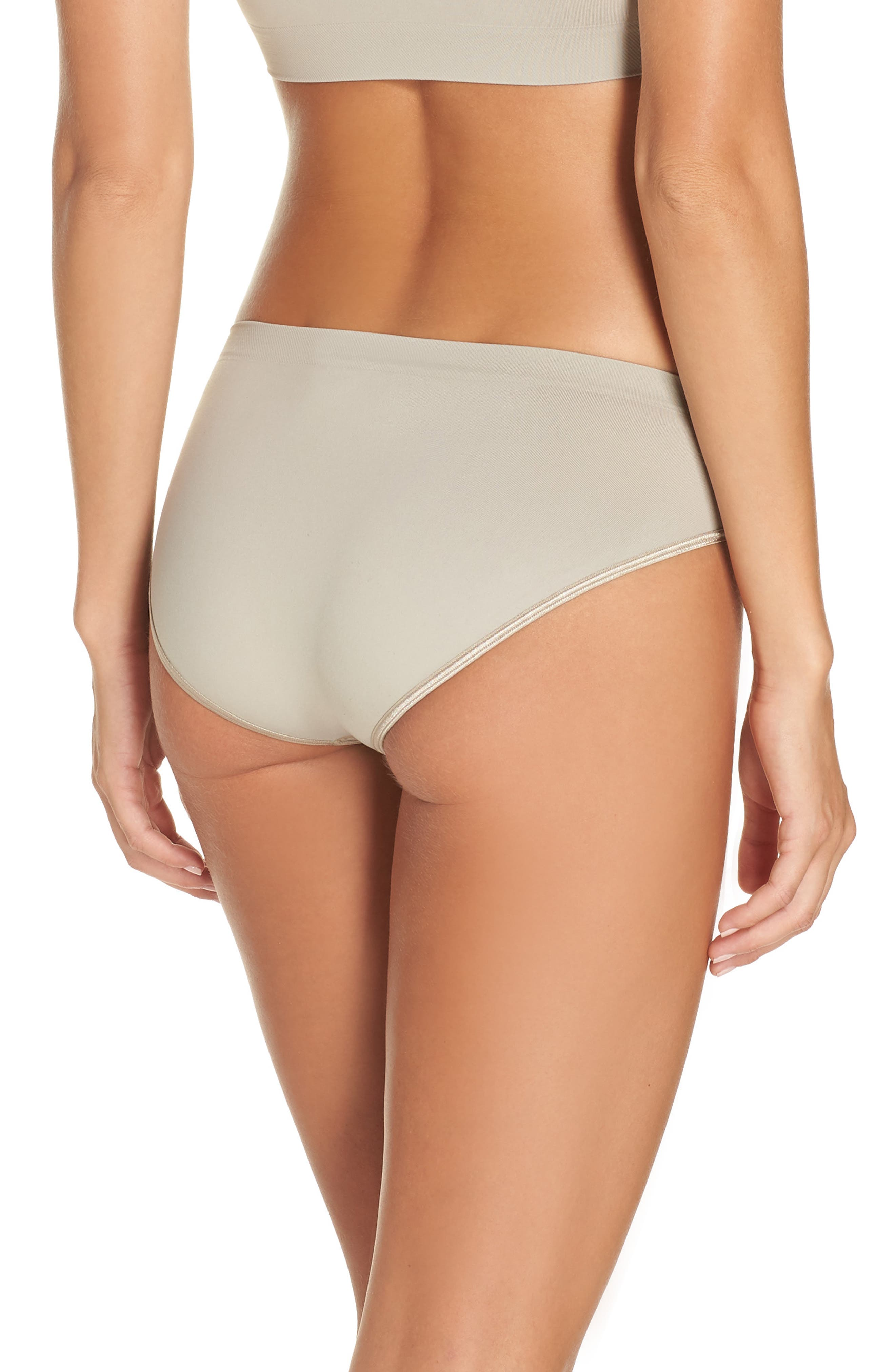 'Touch Feeling' High Cut Briefs,                             Alternate thumbnail 2, color,                             NATURAL STONE