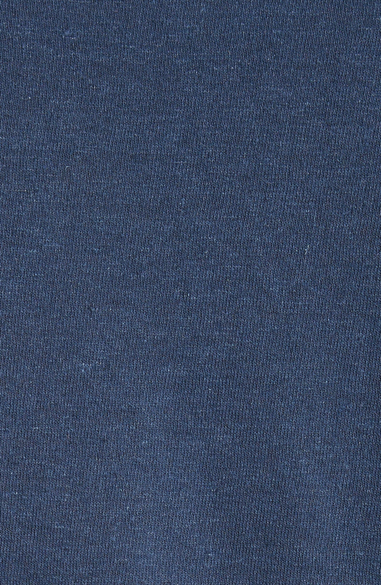 Chad Linen Blend Pocket T-Shirt,                             Alternate thumbnail 5, color,                             DEEP NAVY