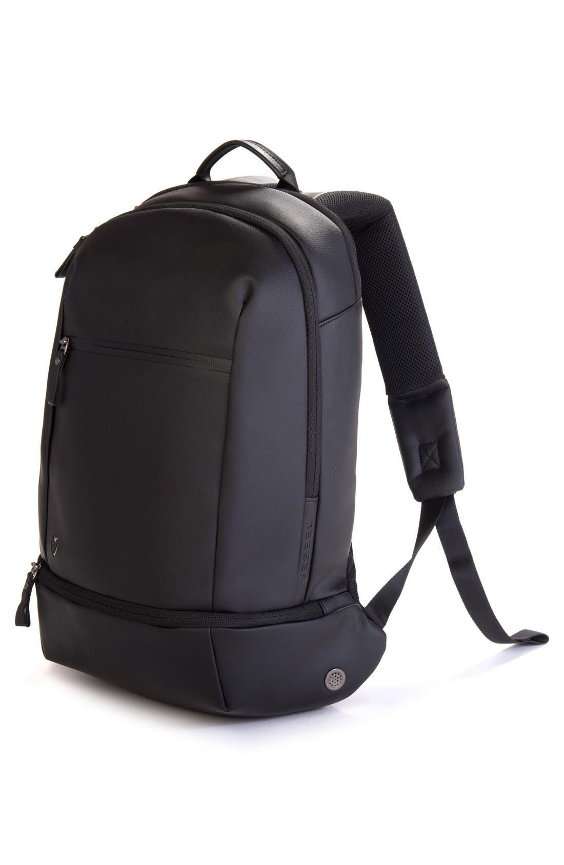 'Signature' Backpack,                             Alternate thumbnail 5, color,                             PEBBLED BLACK