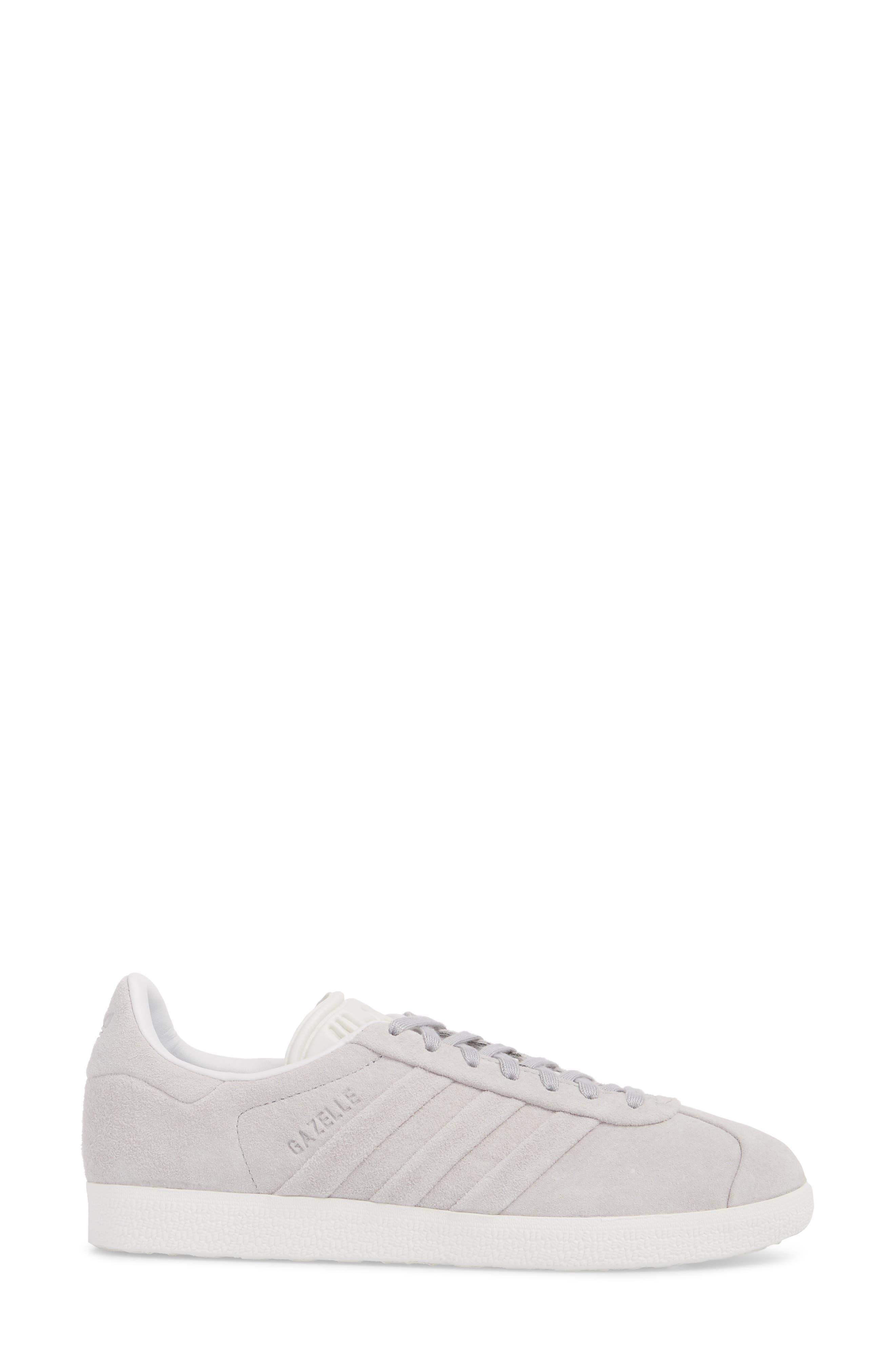 Gazelle Stitch & Turn Sneaker,                             Alternate thumbnail 3, color,                             GREY/ GREY/ WHITE