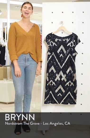 Sequin Cap Sleeve Sheath Dress, sales video thumbnail