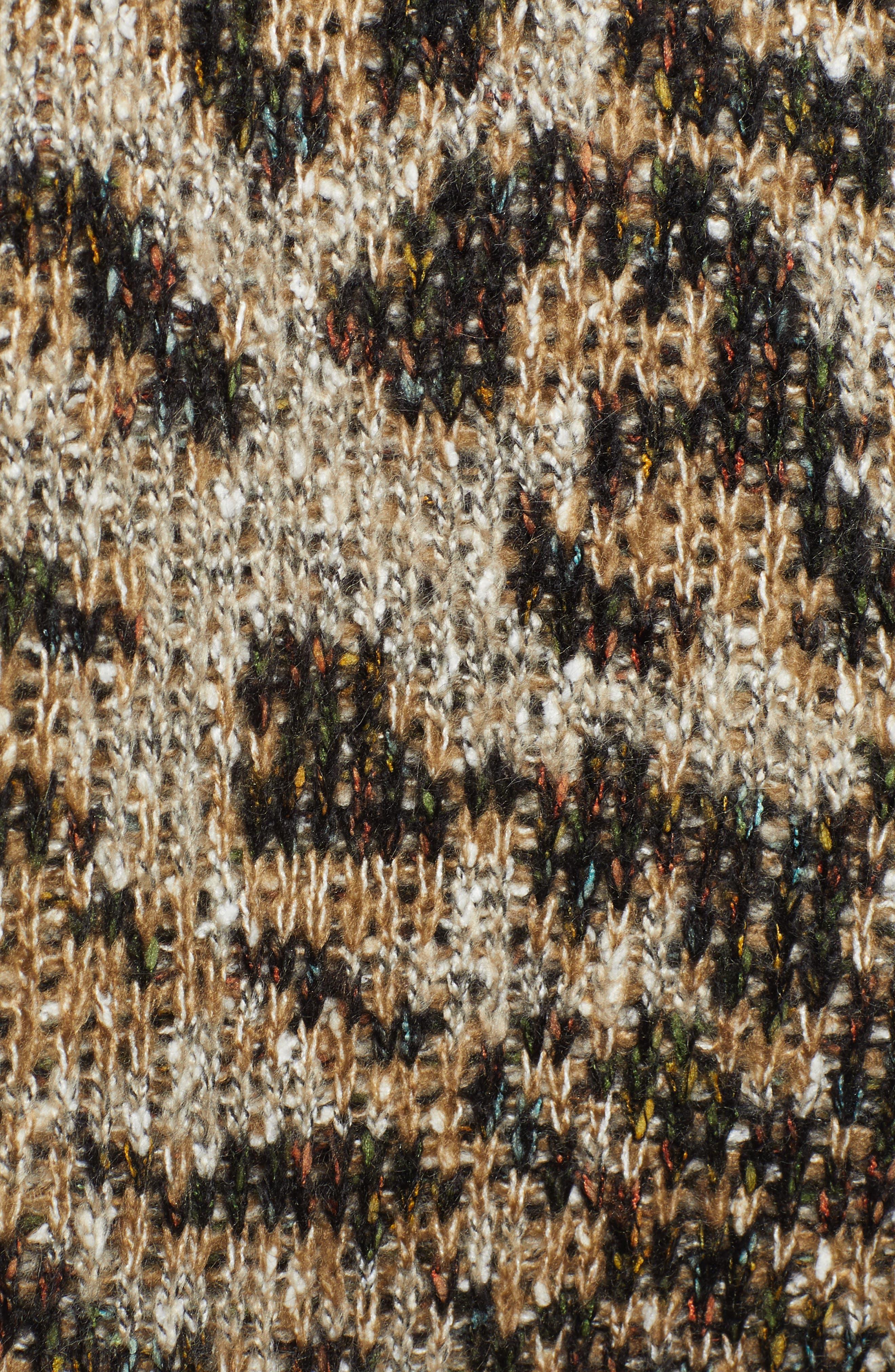 WIT & WISDOM,                             Reversible Tiger Jacquard Sweater Jacket,                             Alternate thumbnail 6, color,                             TAUPE