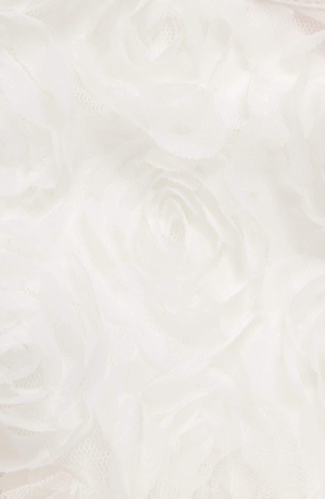 Floral Soutache Bodysuit,                             Alternate thumbnail 3, color,                             WHITE