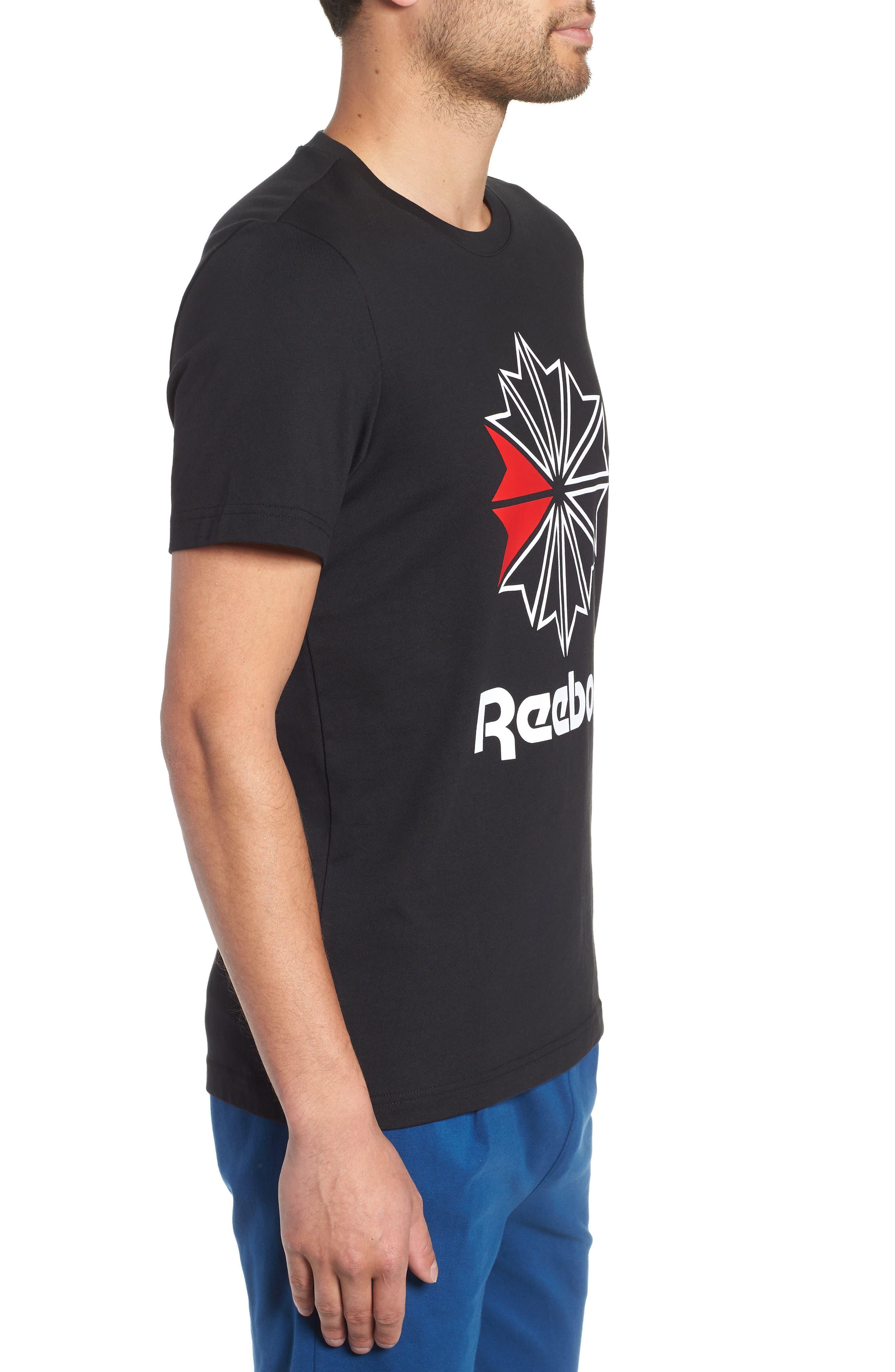 Logo Graphic T-Shirt,                             Alternate thumbnail 3, color,                             BLACK/WHITE