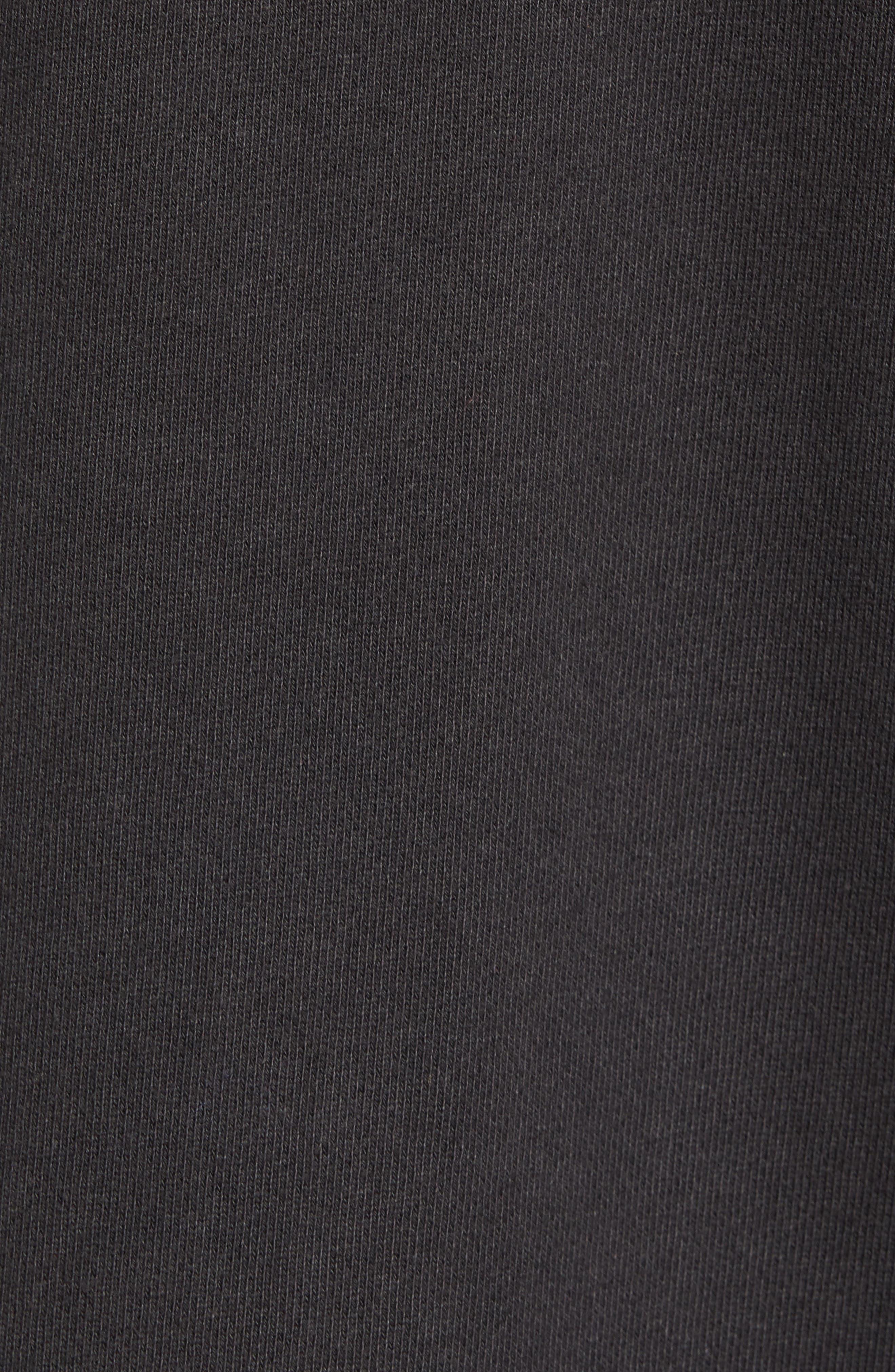 Regular Fit Hooded Zip Sweatshirt,                             Alternate thumbnail 5, color,                             001