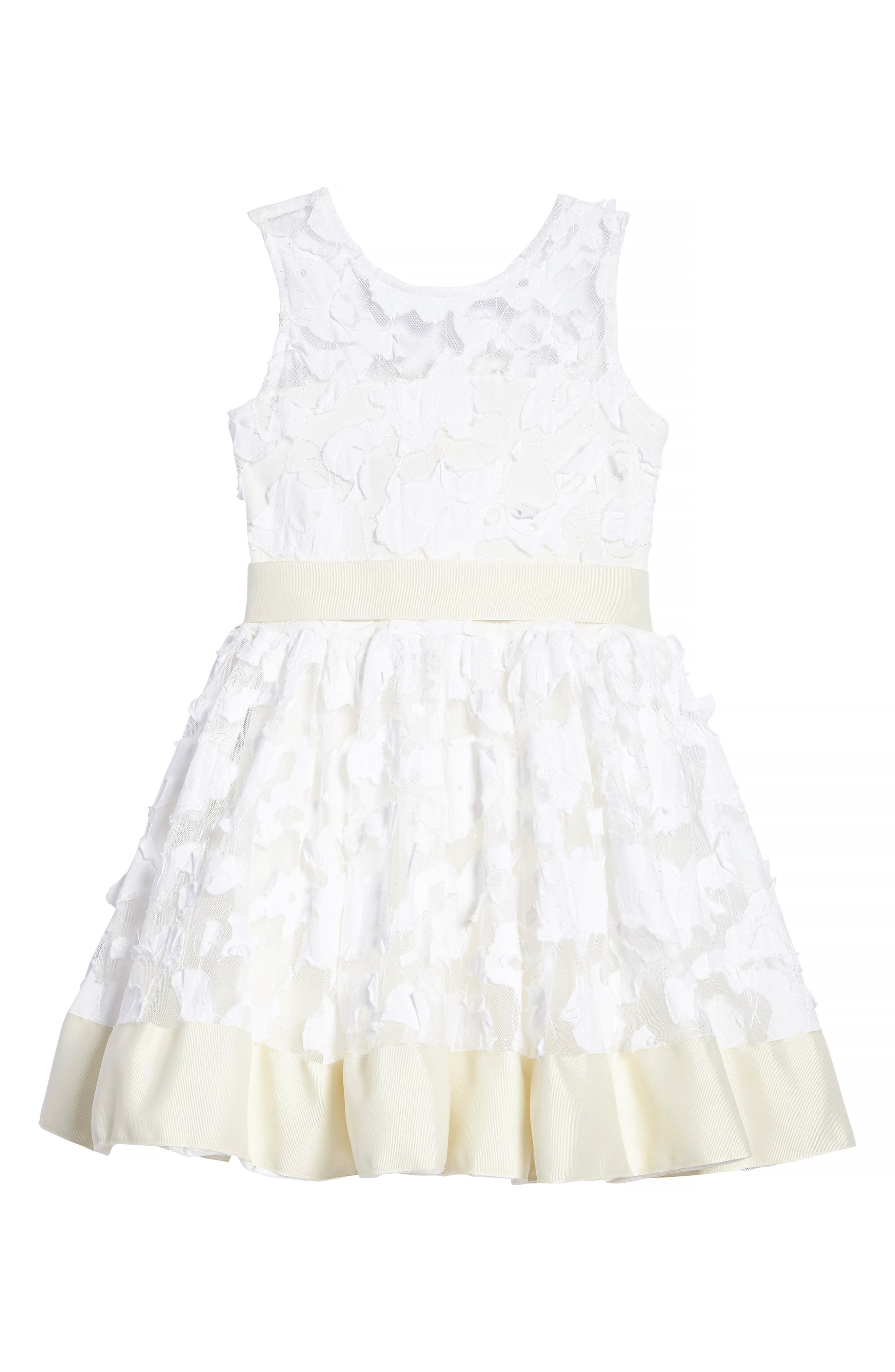 'Pretty in Ivory' Party Dress,                             Main thumbnail 1, color,                             900