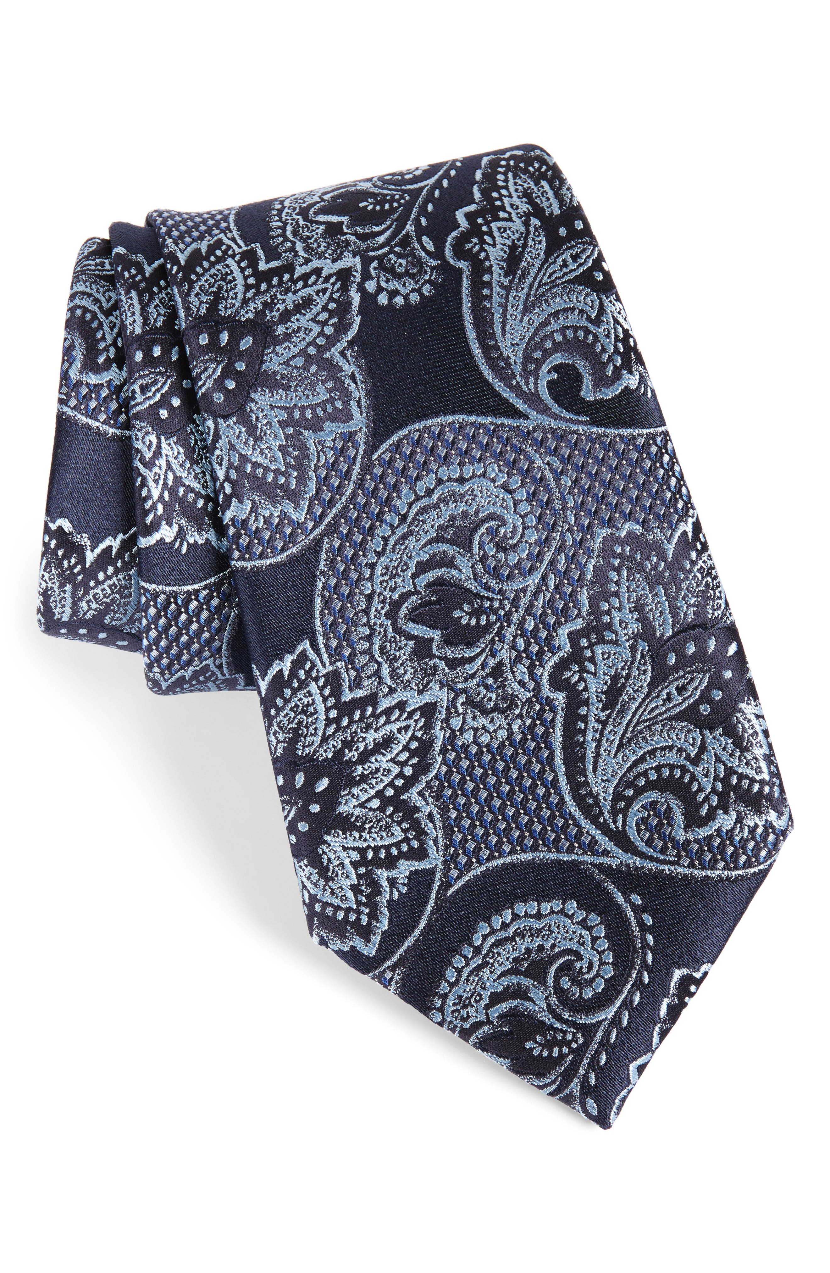 Paisley Silk Tie,                             Main thumbnail 1, color,                             418