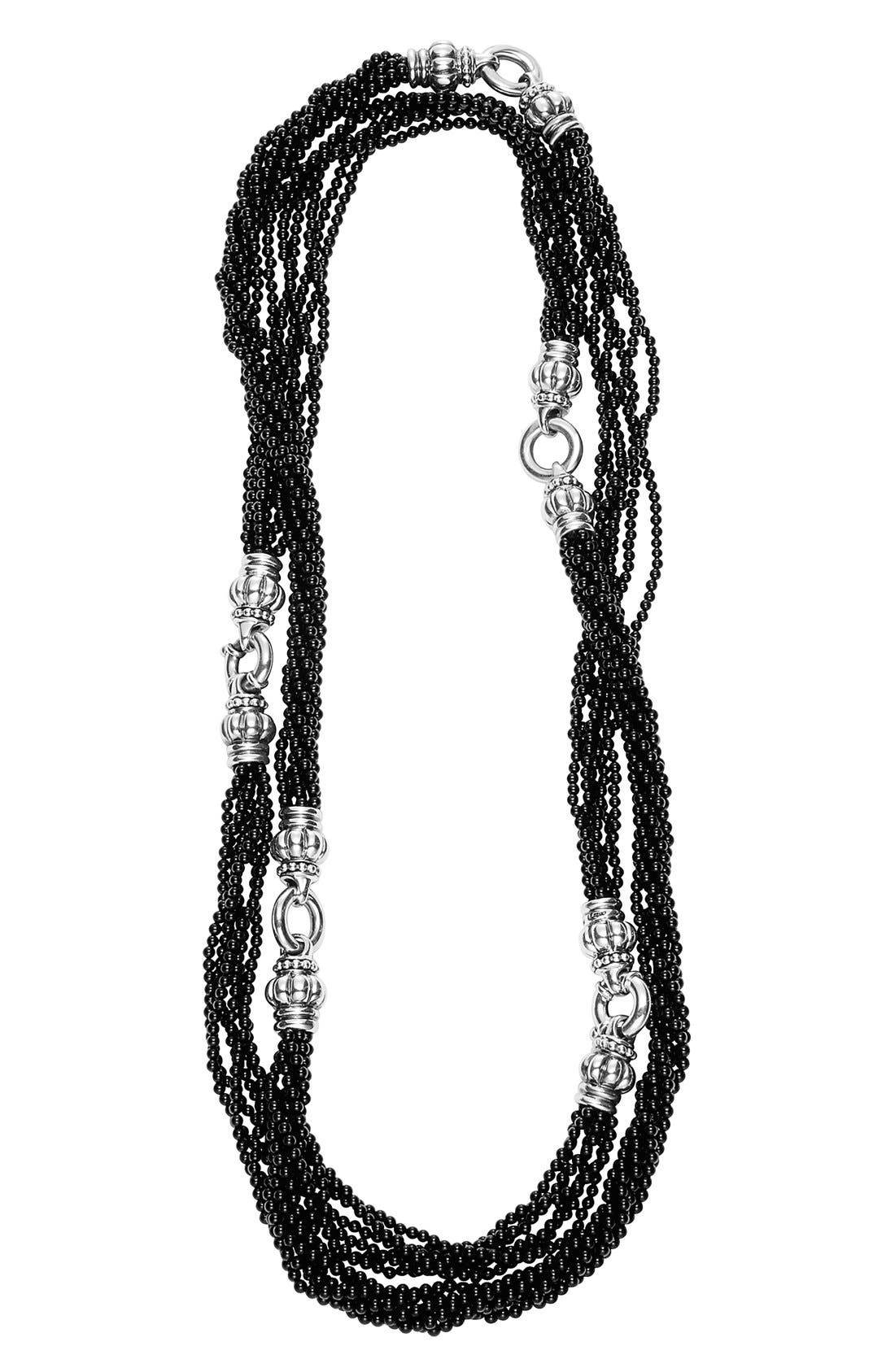 'Black Caviar' Beaded Necklace,                             Main thumbnail 1, color,                             001