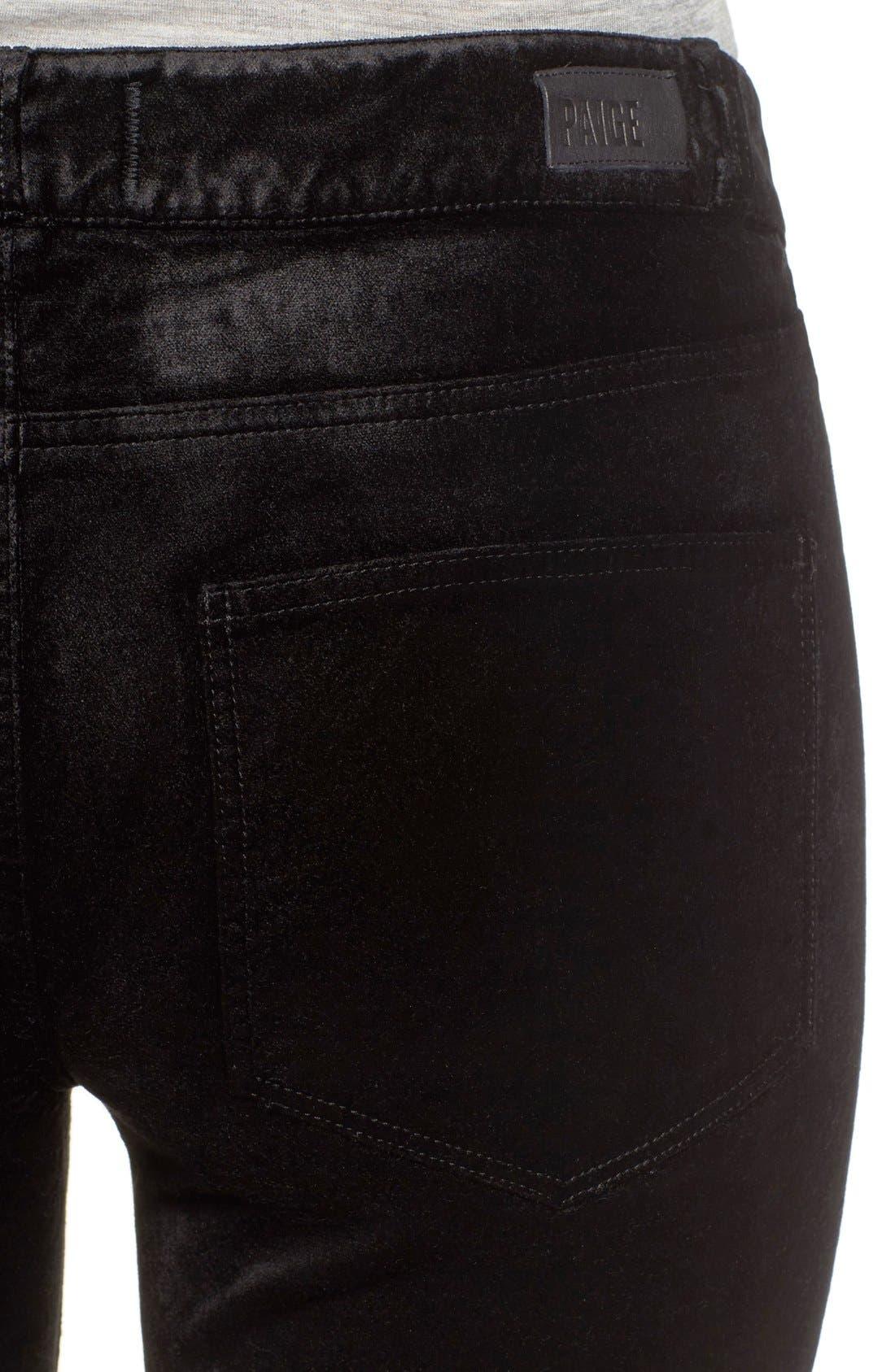 Verdugo Ultra Skinny Velvet Pants,                             Alternate thumbnail 7, color,                             001