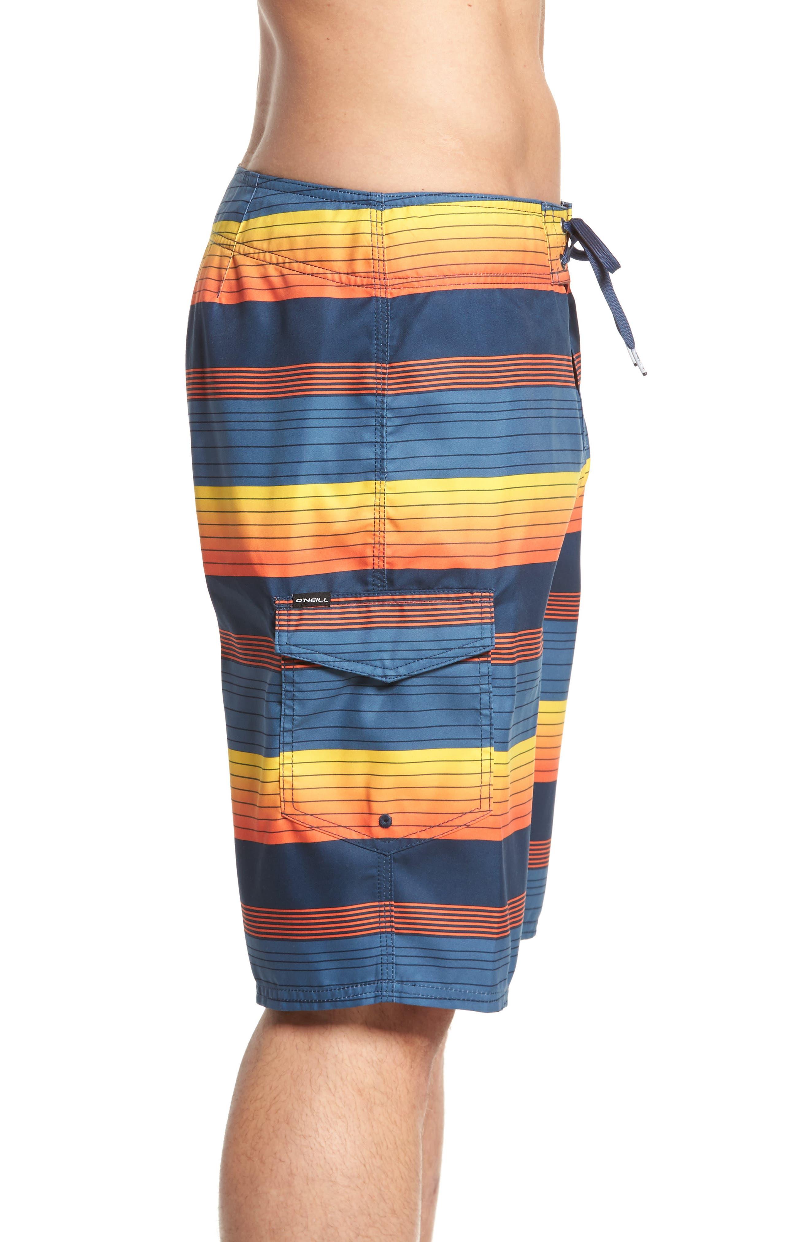 Santa Cruz Stripe Board Shorts,                             Alternate thumbnail 3, color,                             415
