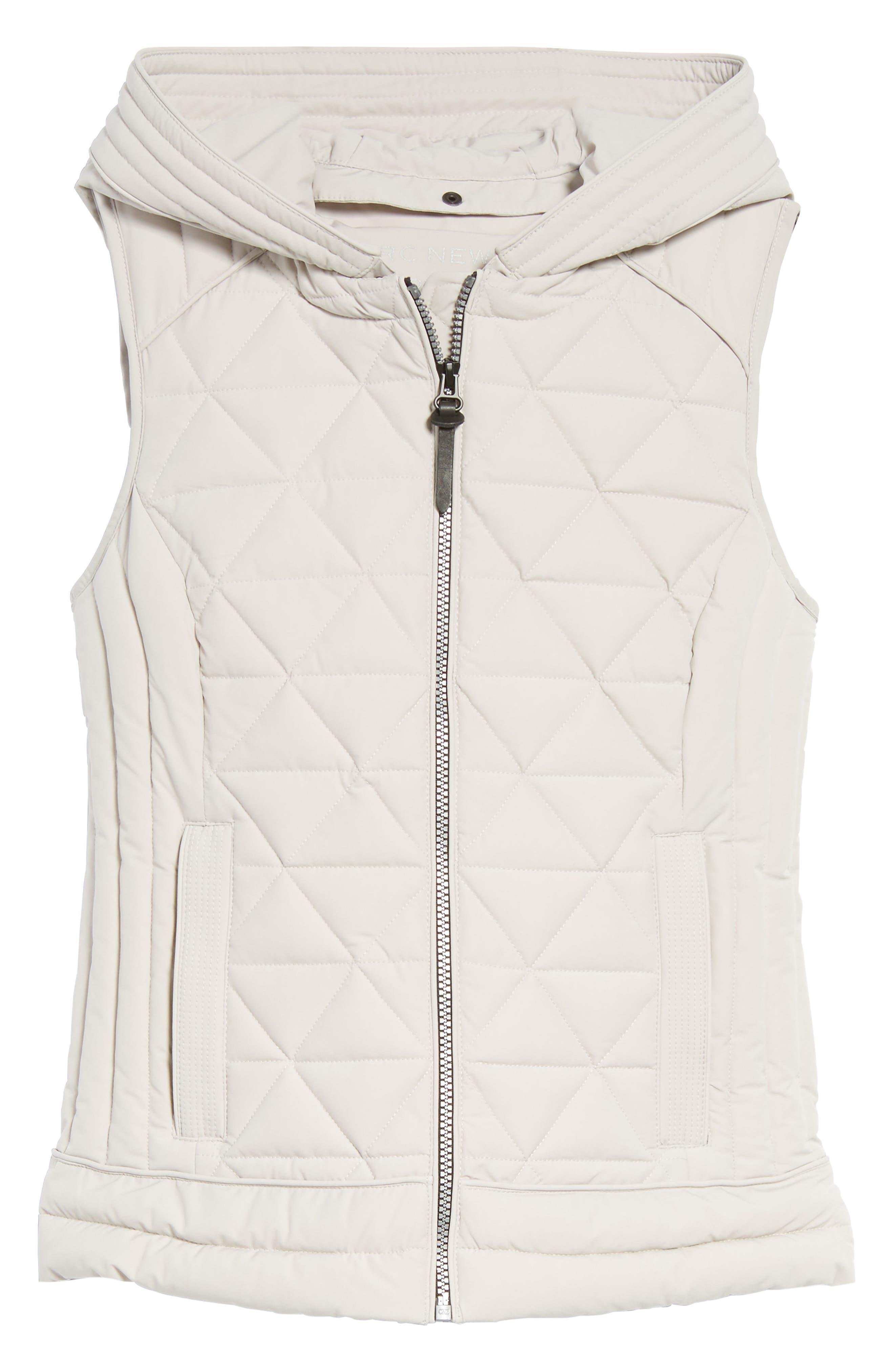 Sage Hooded Quilted Vest,                             Alternate thumbnail 10, color,