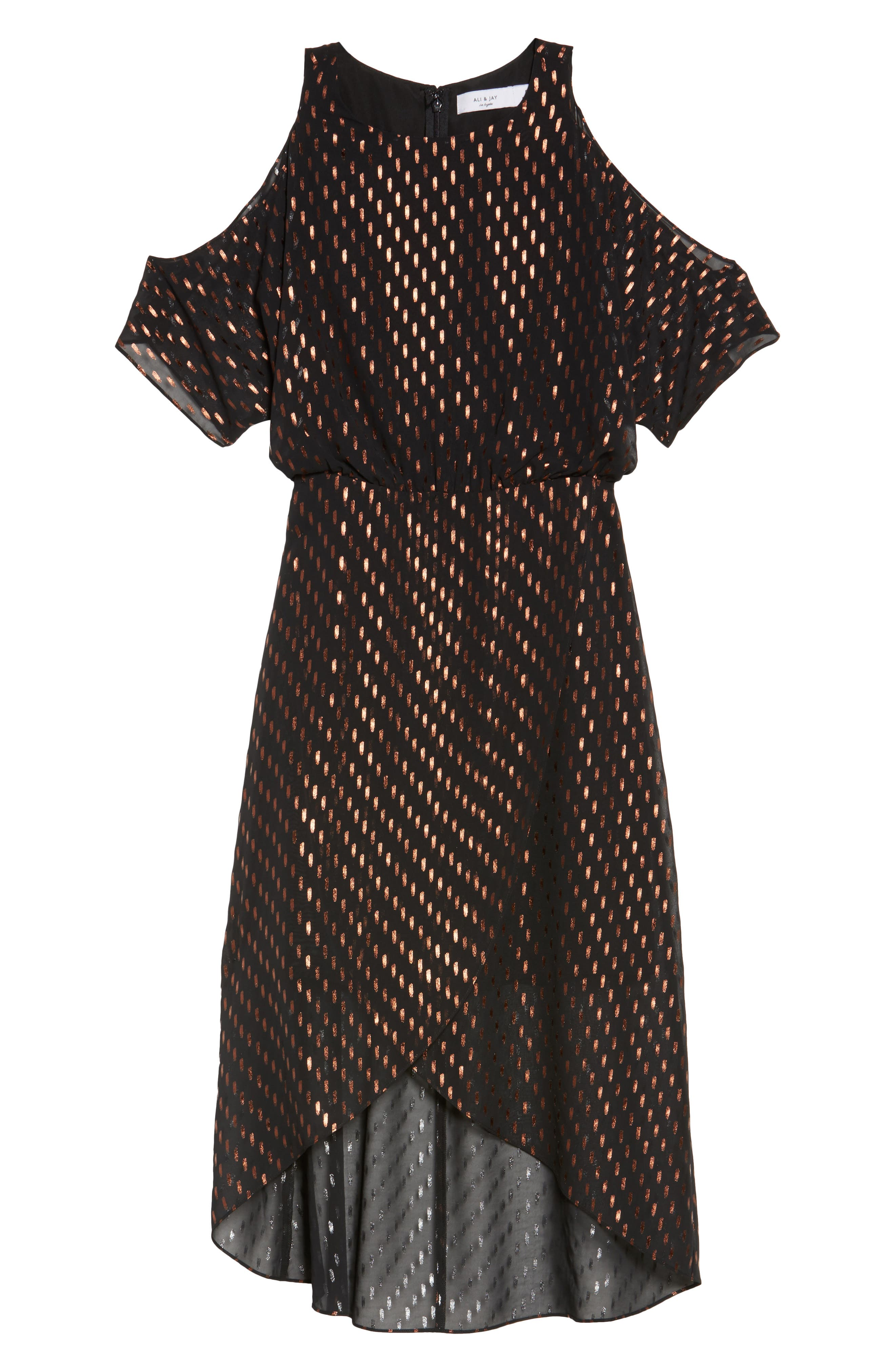 You Can't Handle All This Sparkle Cold Shoulder Dress,                             Alternate thumbnail 6, color,                             010