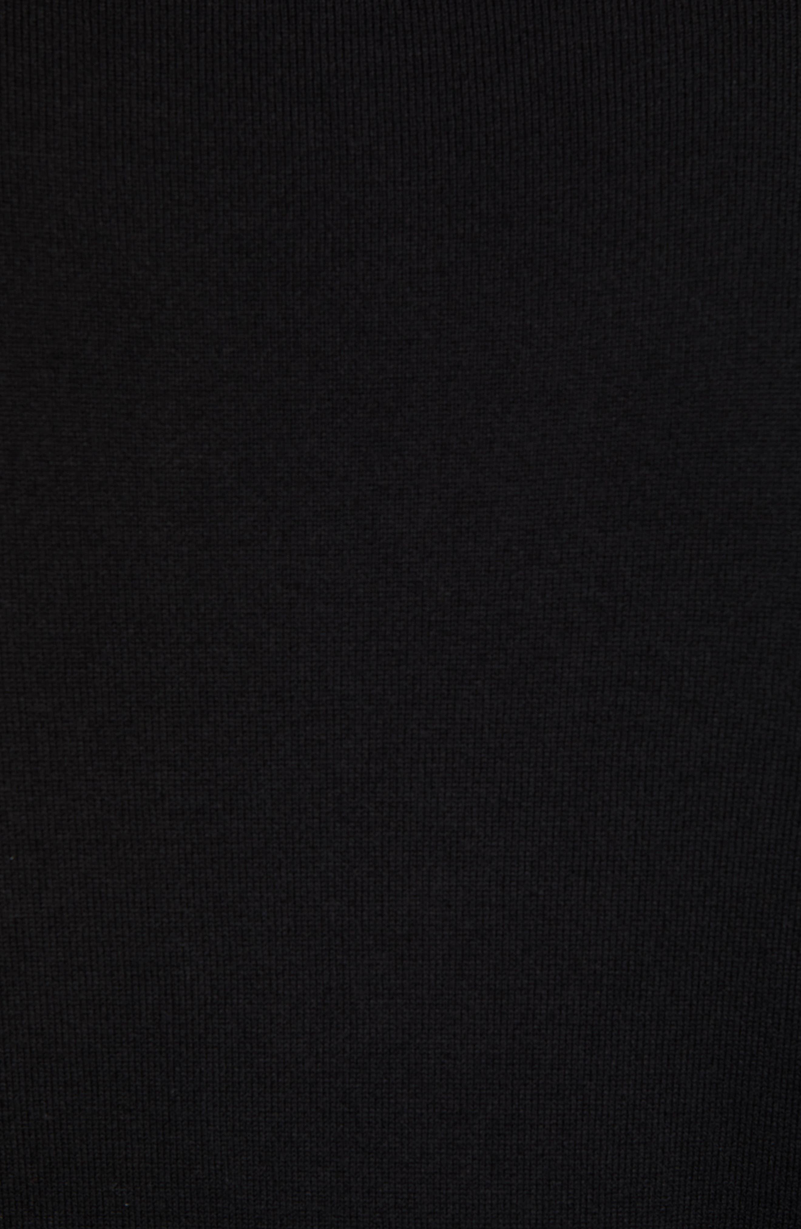 Philadelphia Eagles - Lakemont Regular Fit Quarter Zip Sweater,                             Alternate thumbnail 5, color,                             BLACK