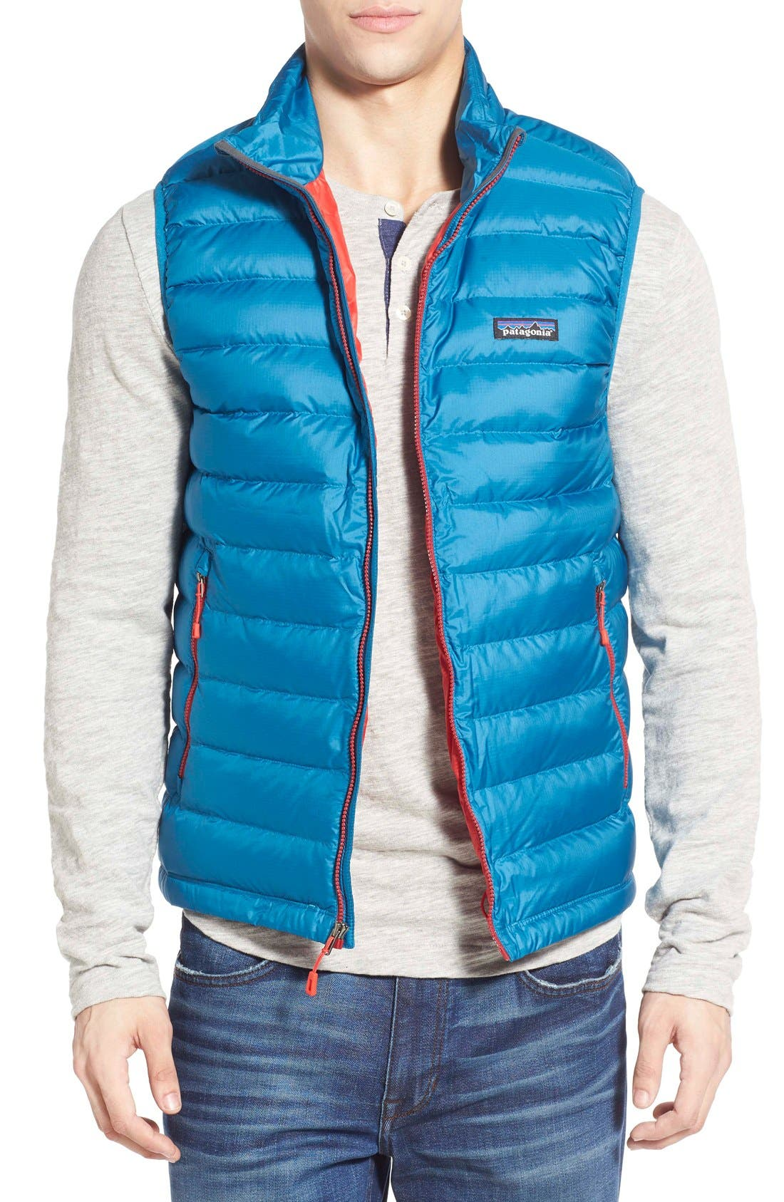 Windproof & Water Resistant 800 Fill Power Down Quilted Vest,                             Main thumbnail 8, color,
