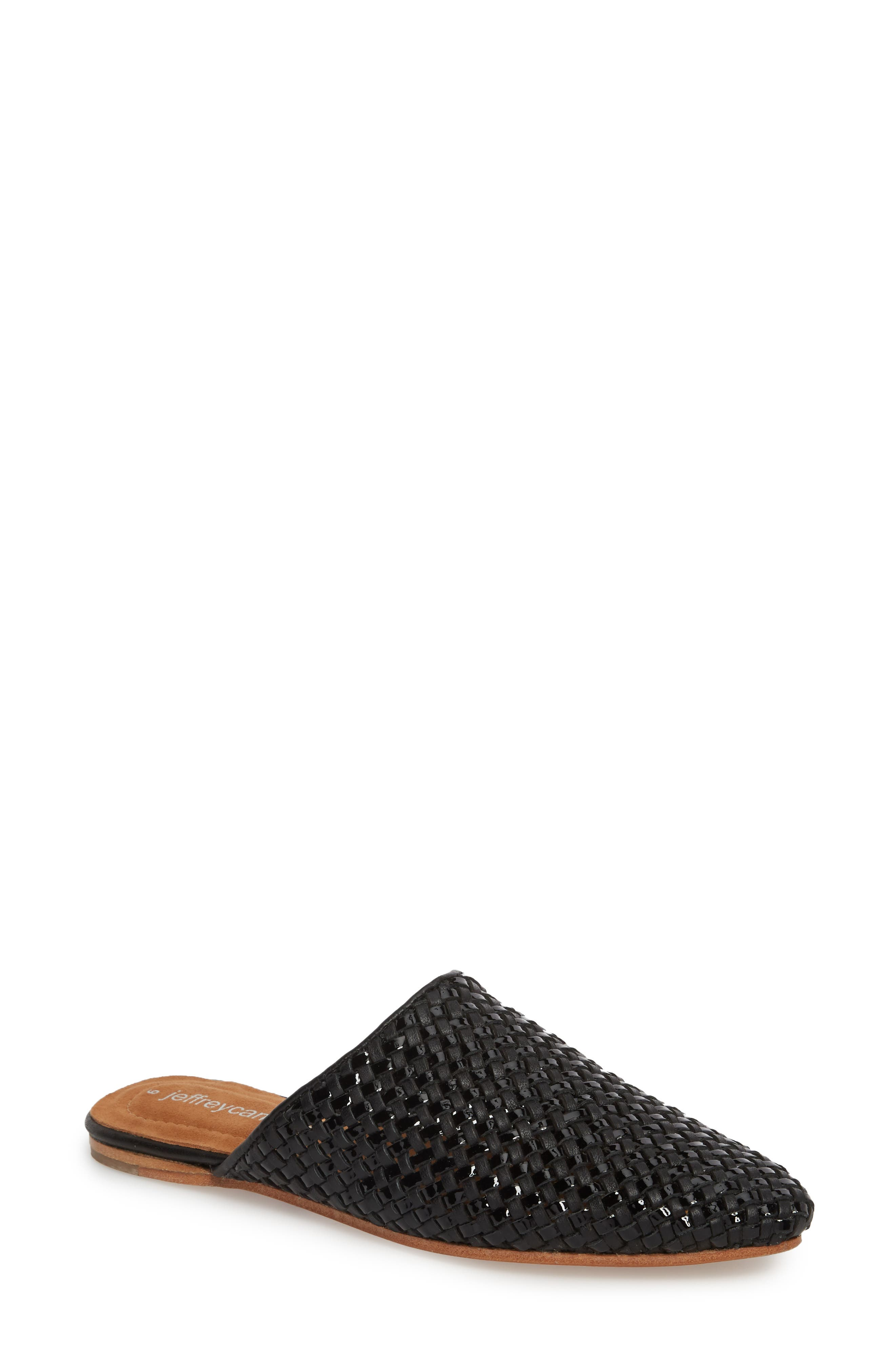 Dashi Woven Mule,                             Main thumbnail 1, color,                             BLACK PATENT