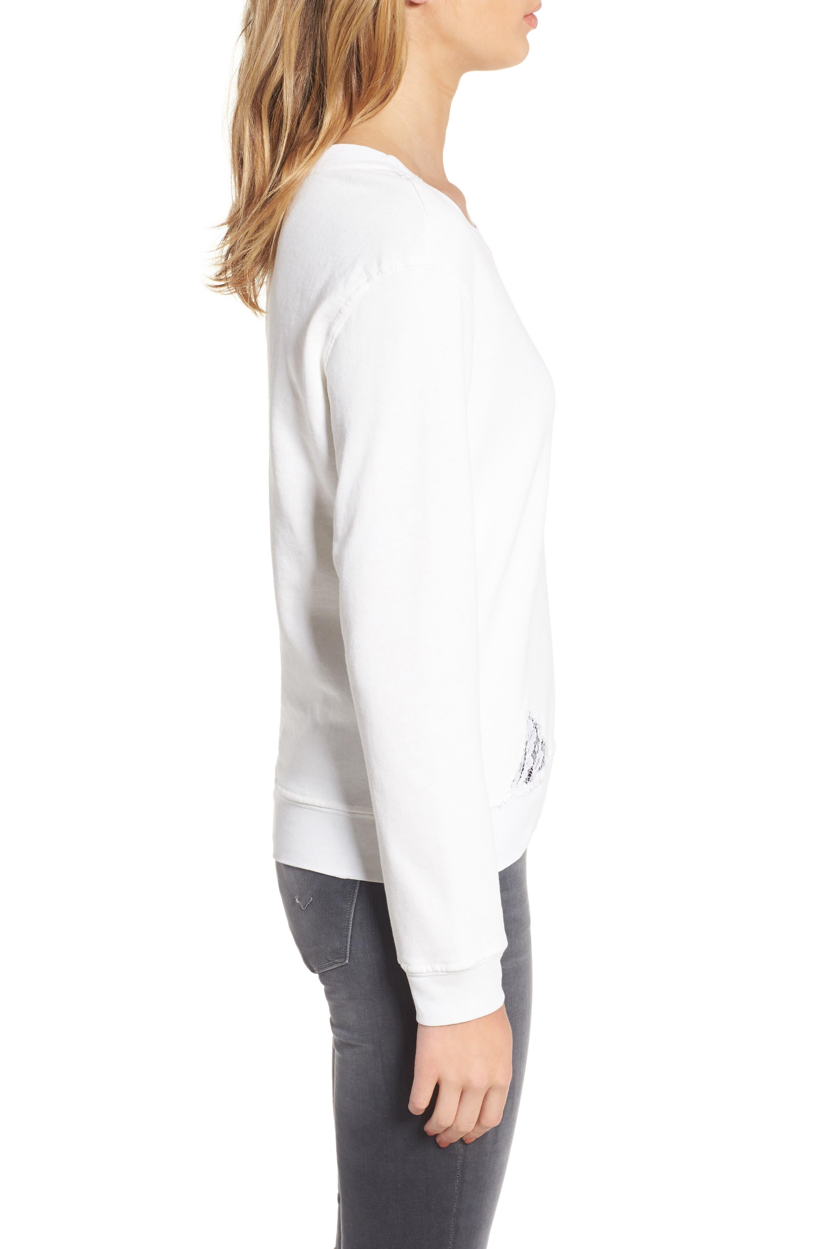 Lace Trim Sweatshirt,                             Alternate thumbnail 8, color,