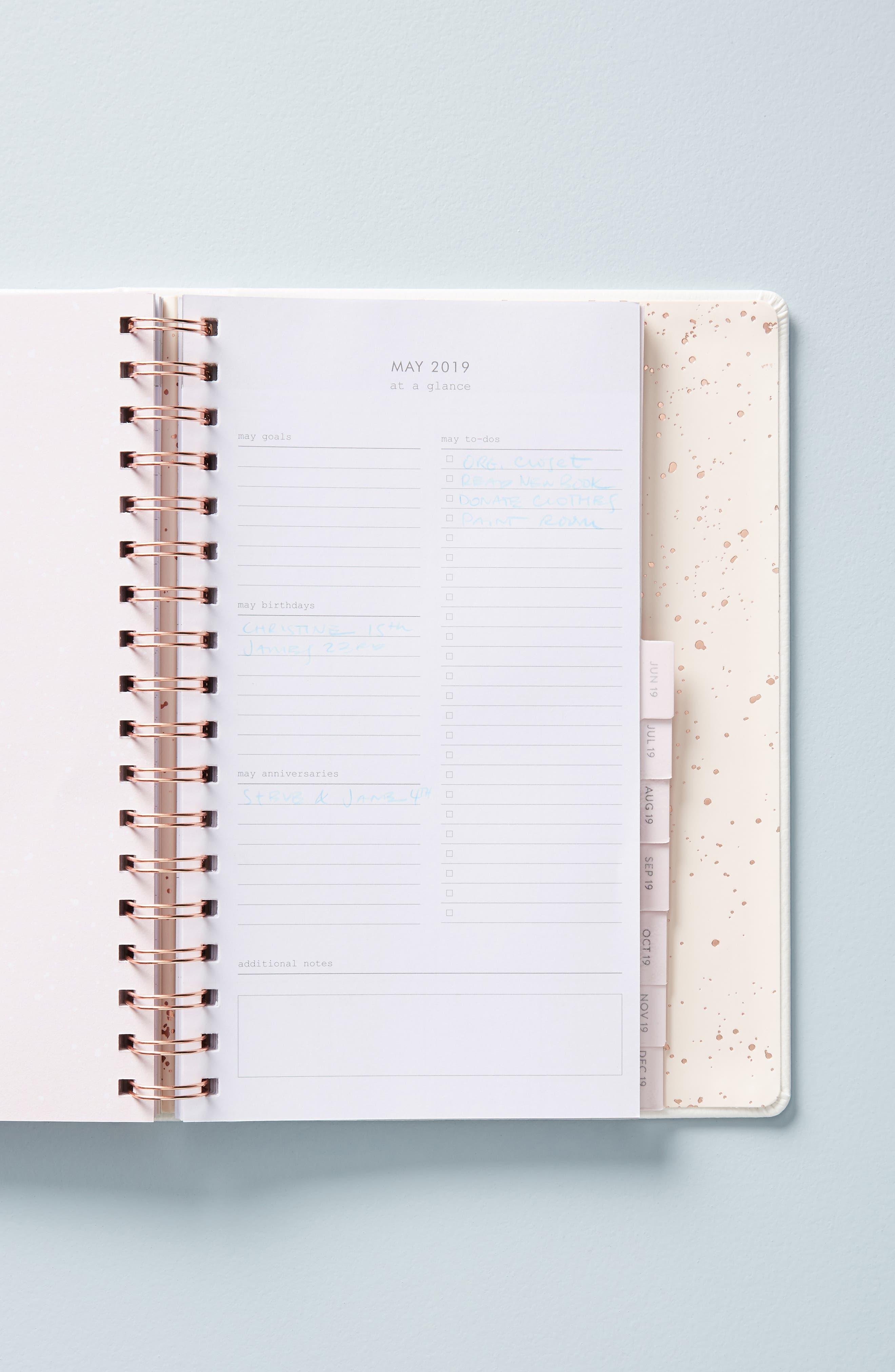 Mila 17-Month Planner,                             Alternate thumbnail 2, color,                             PEARL
