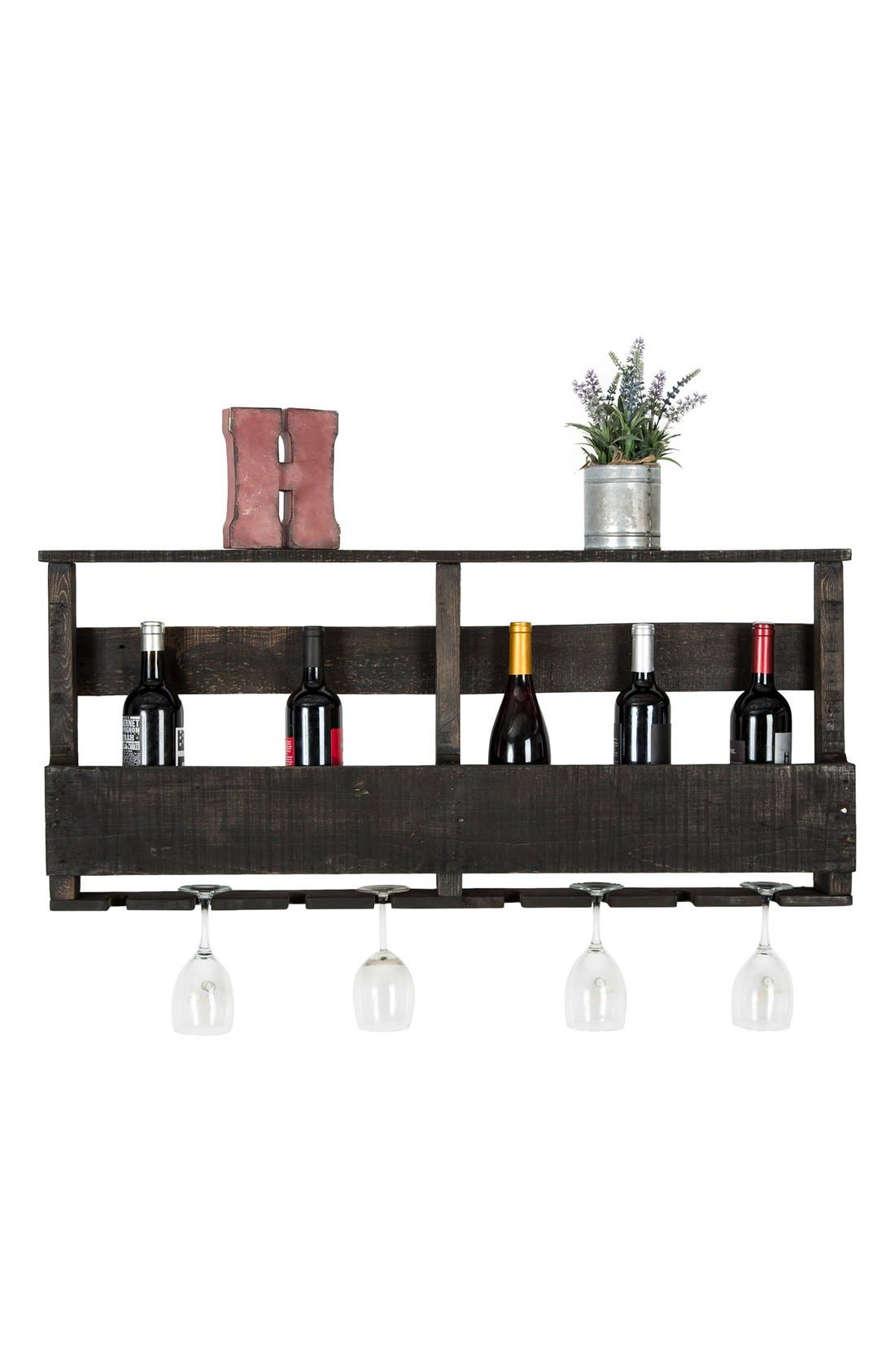 (DEL)HUTSON DESIGNS,                             (del) Hutson Designs 'Top Shelf' Repurposed Wood Wine Rack,                             Alternate thumbnail 2, color,                             001