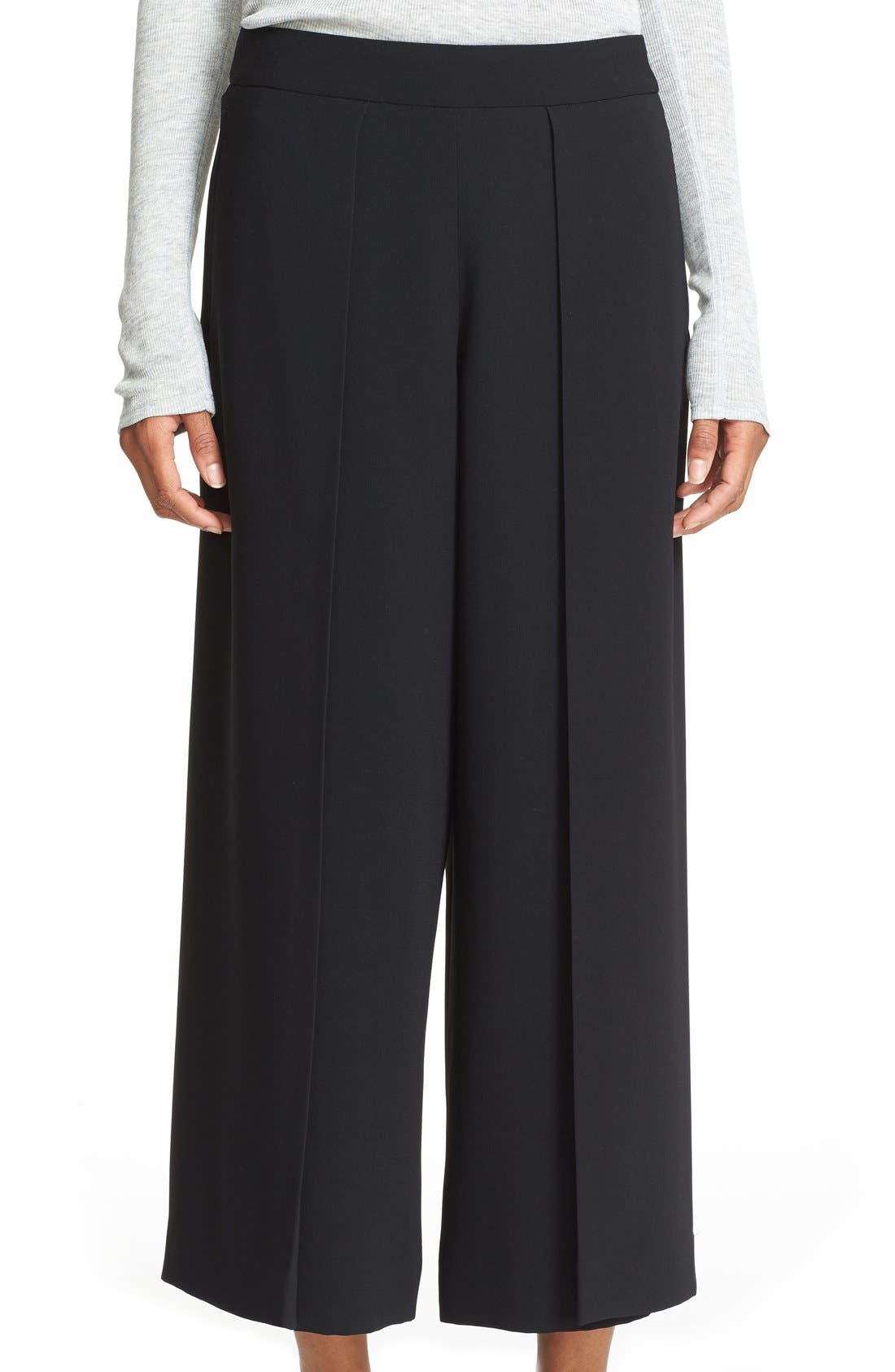 'Rowe' Pleat Crop Pants,                             Main thumbnail 1, color,                             001