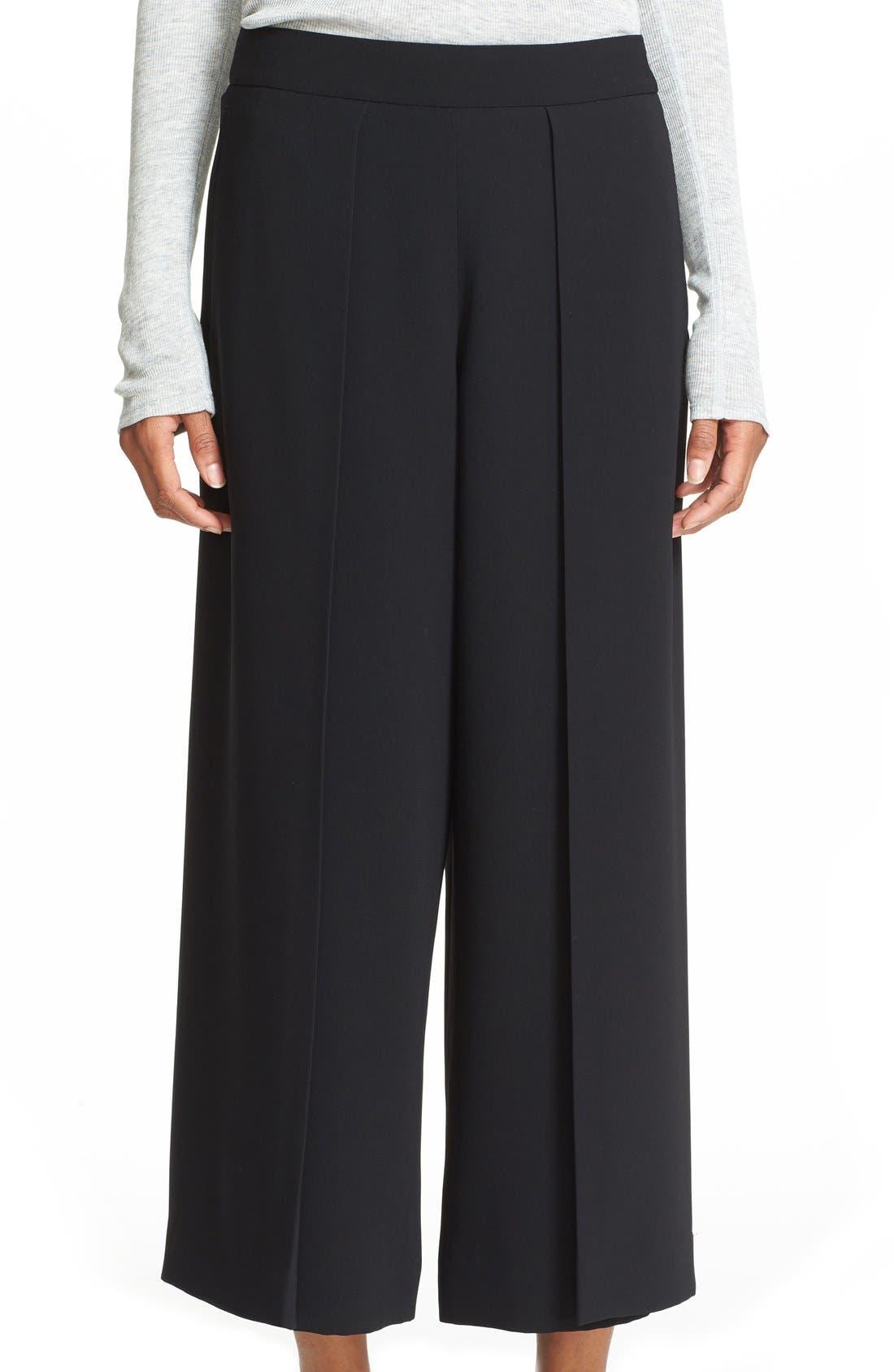 'Rowe' Pleat Crop Pants,                         Main,                         color, 001