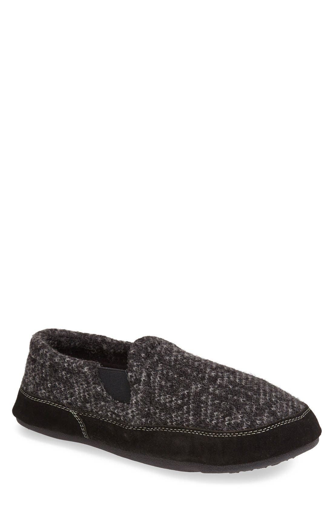 'Fave' Slipper,                         Main,                         color, CHARCOAL TWEED
