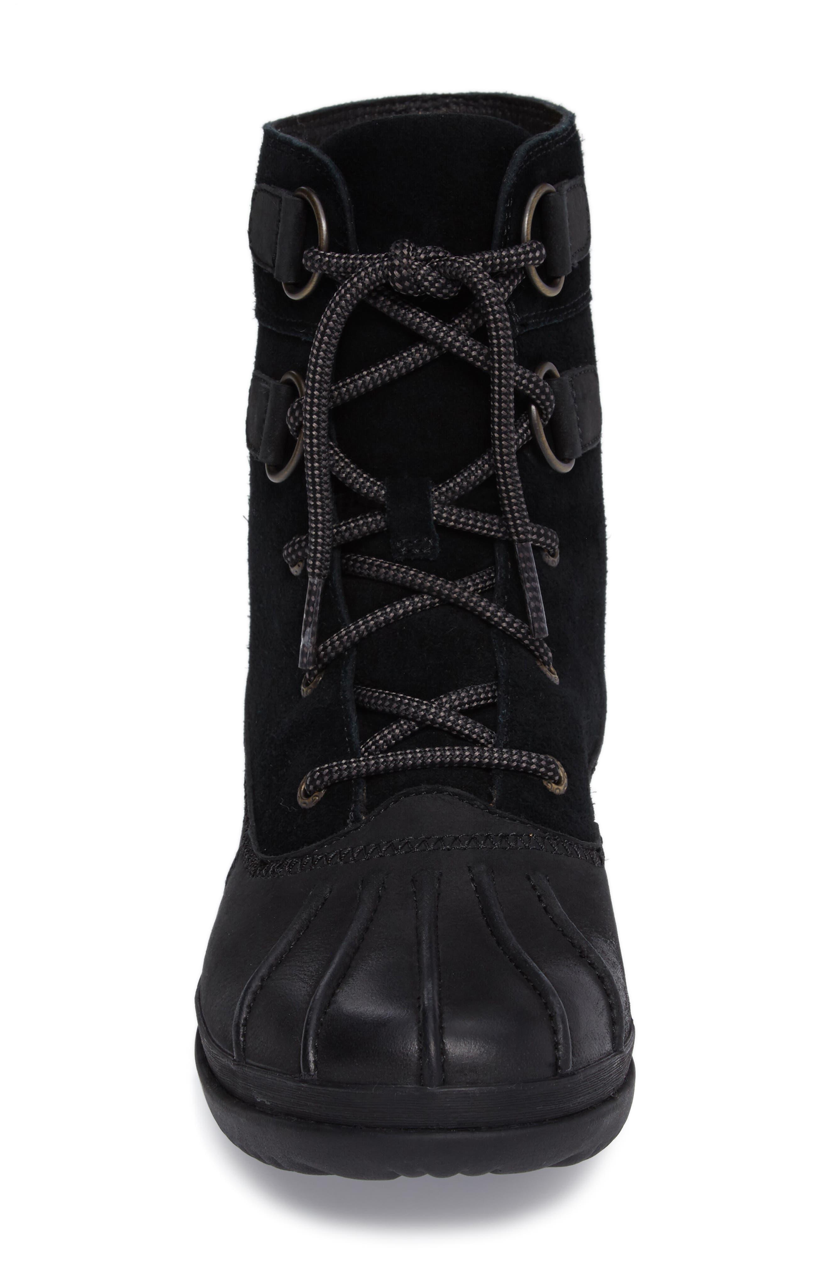 Azaria Waterproof Boot,                             Alternate thumbnail 4, color,                             001