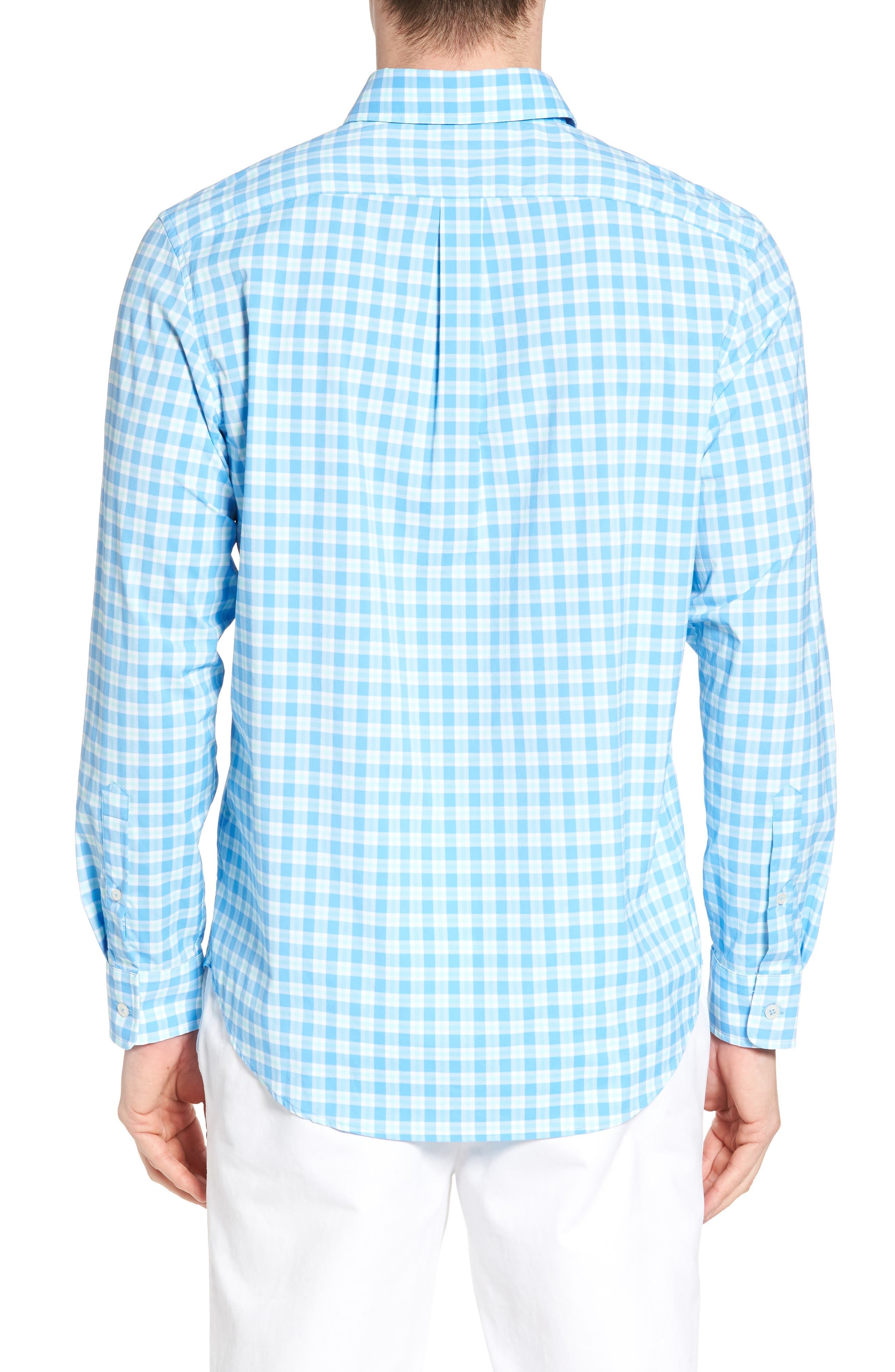 Ocean Beach Classic Fit Stretch Check Sport Shirt,                             Alternate thumbnail 2, color,                             484