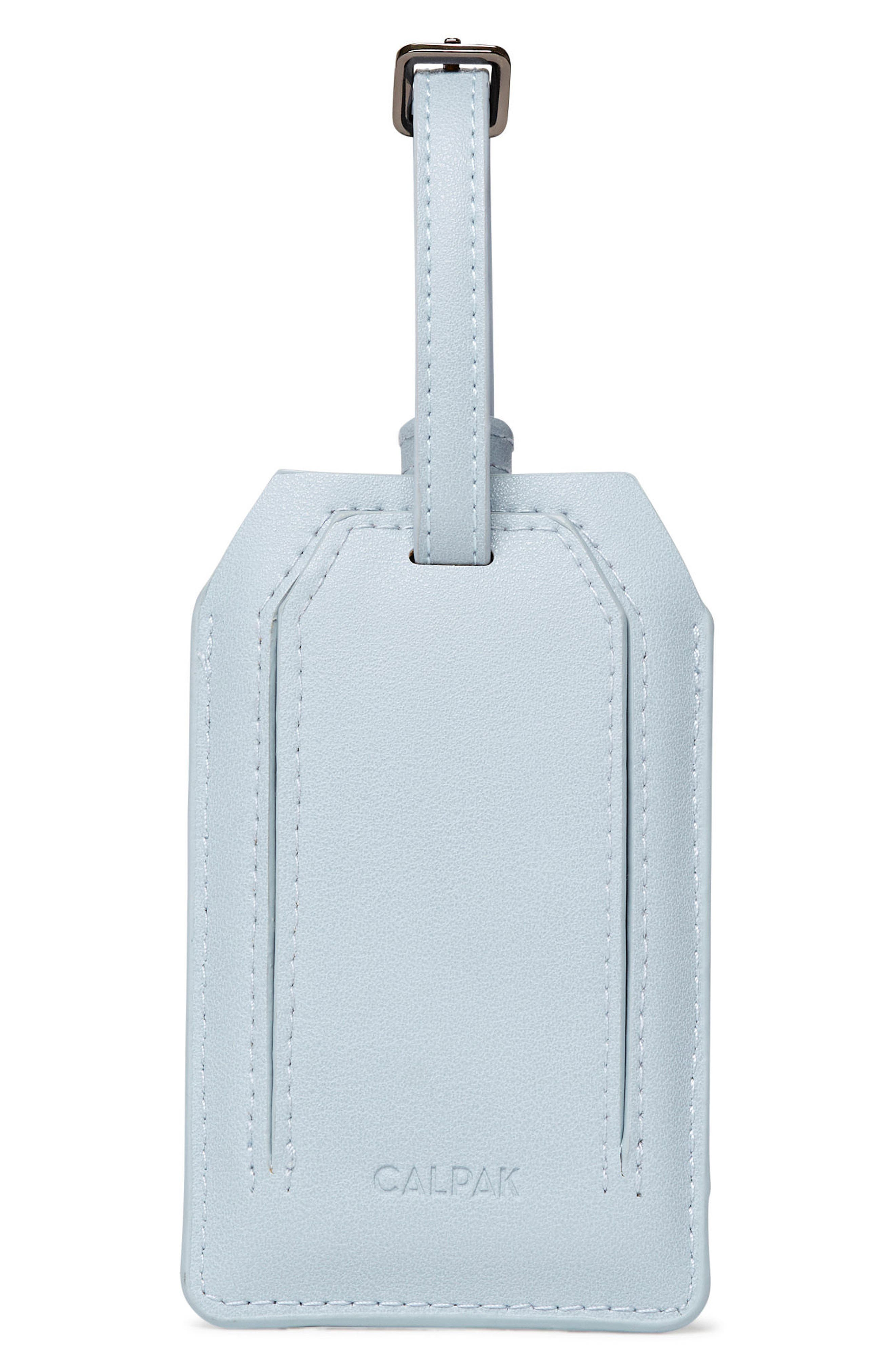 Faux Leather Power Charging Luggage Tag,                             Alternate thumbnail 4, color,                             WILD AND FREE