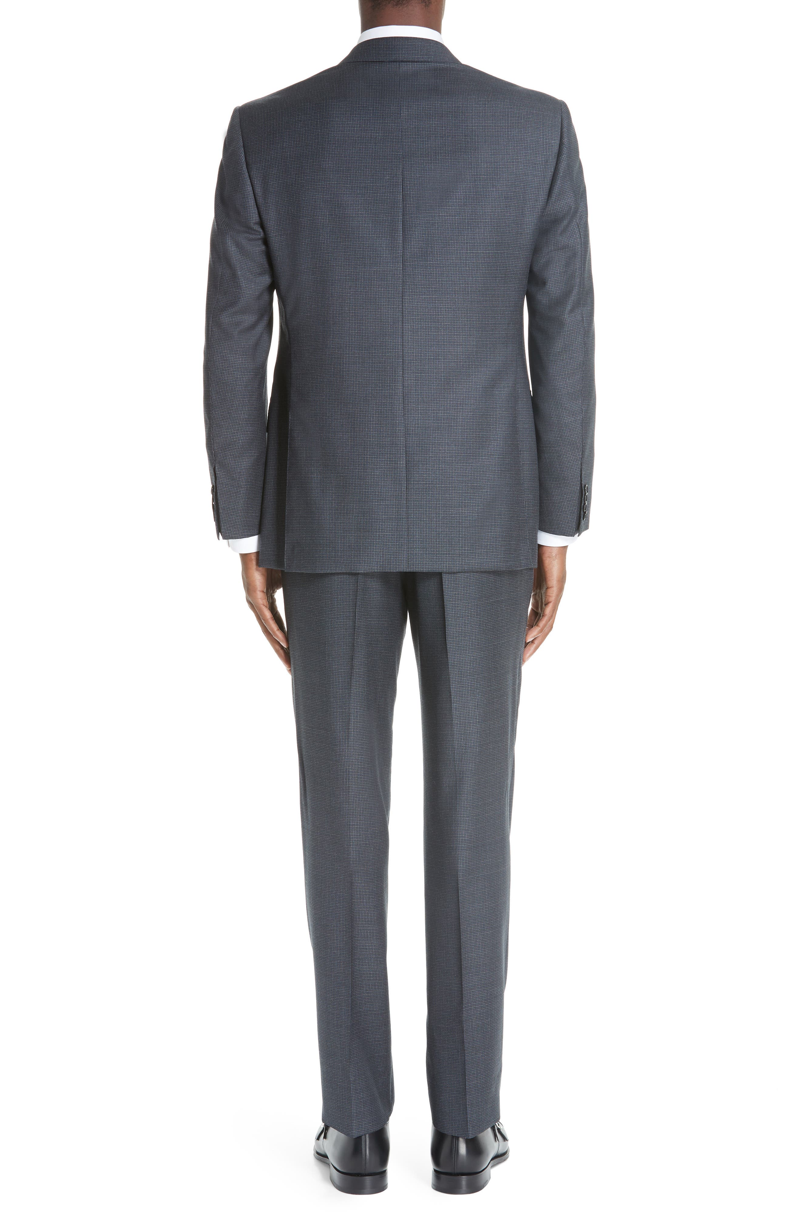 Classic Fit Houndstooth Wool Suit,                             Alternate thumbnail 2, color,                             DARK GREY
