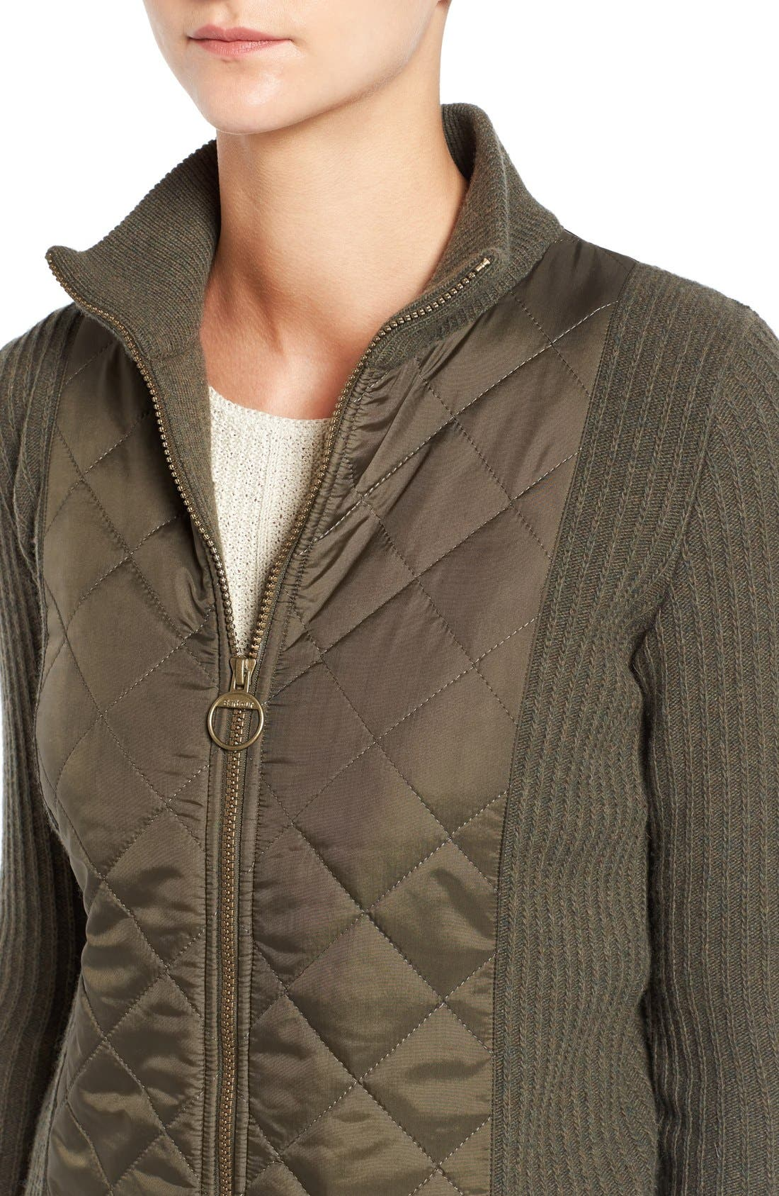 'Sporting' Zip Front Quilted Jacket,                             Alternate thumbnail 8, color,