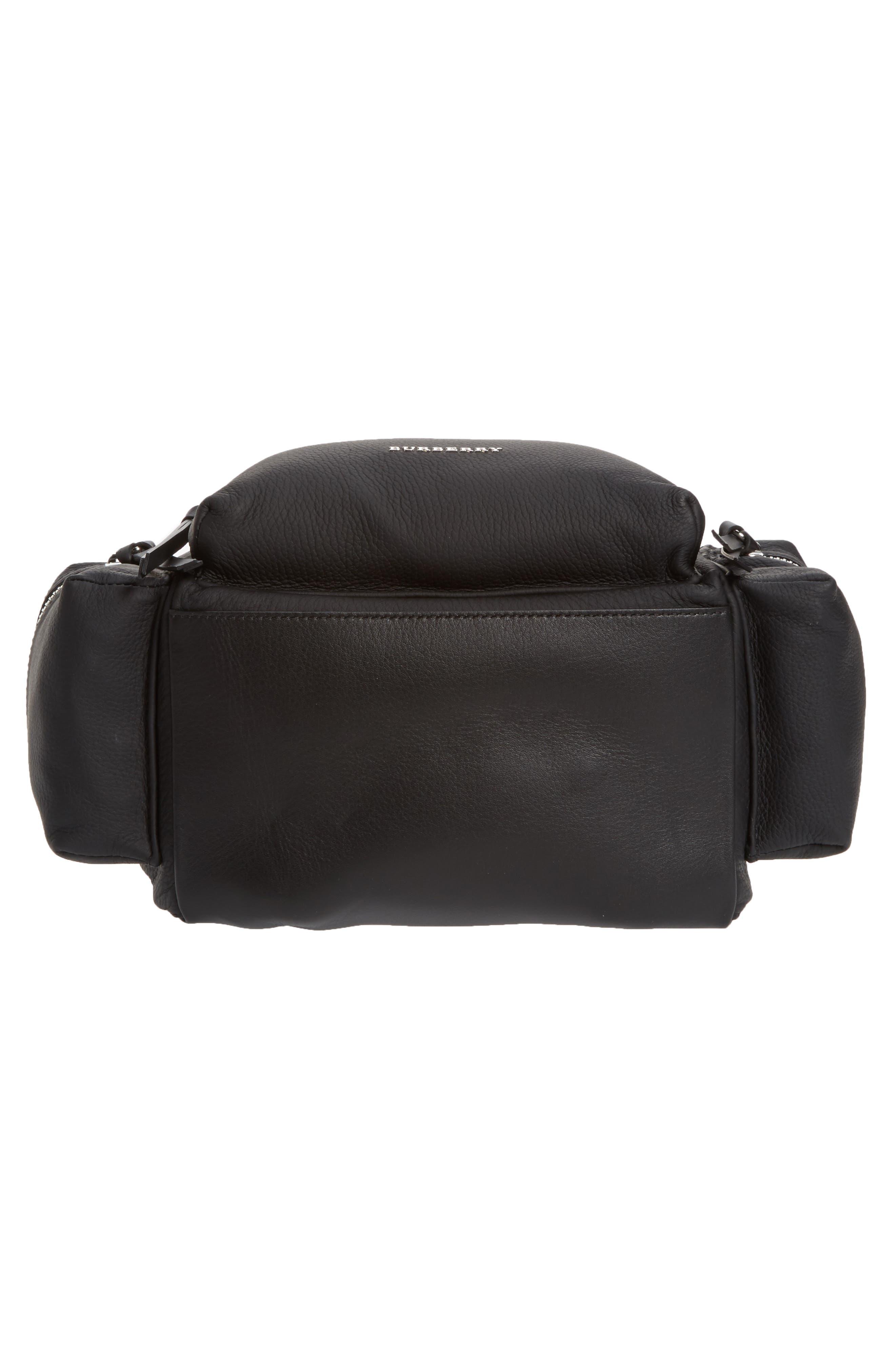 Medium Rucksack Leather Backpack,                             Alternate thumbnail 6, color,