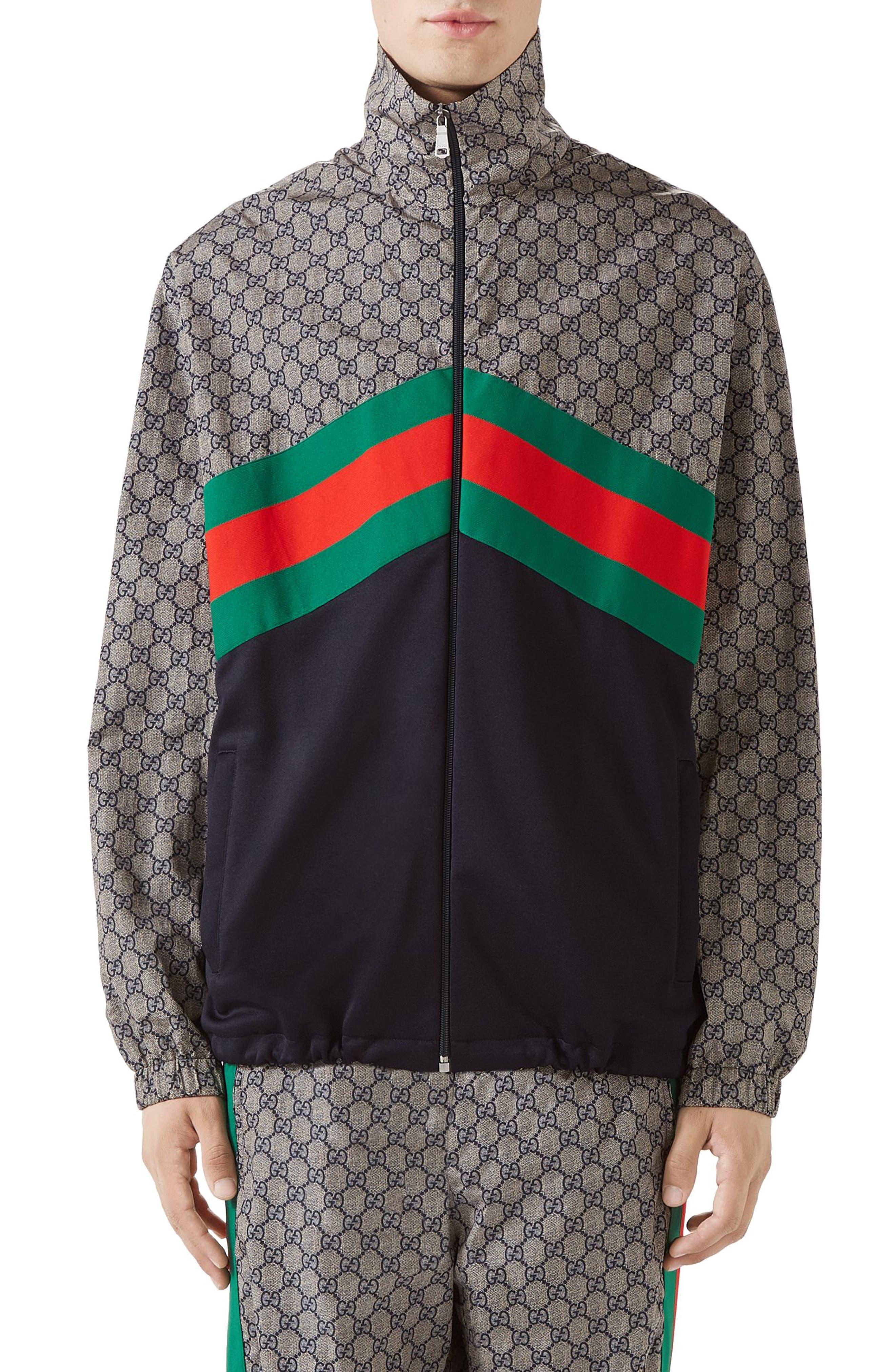 GUCCI,                             GG Track Jacket,                             Main thumbnail 1, color,                             400