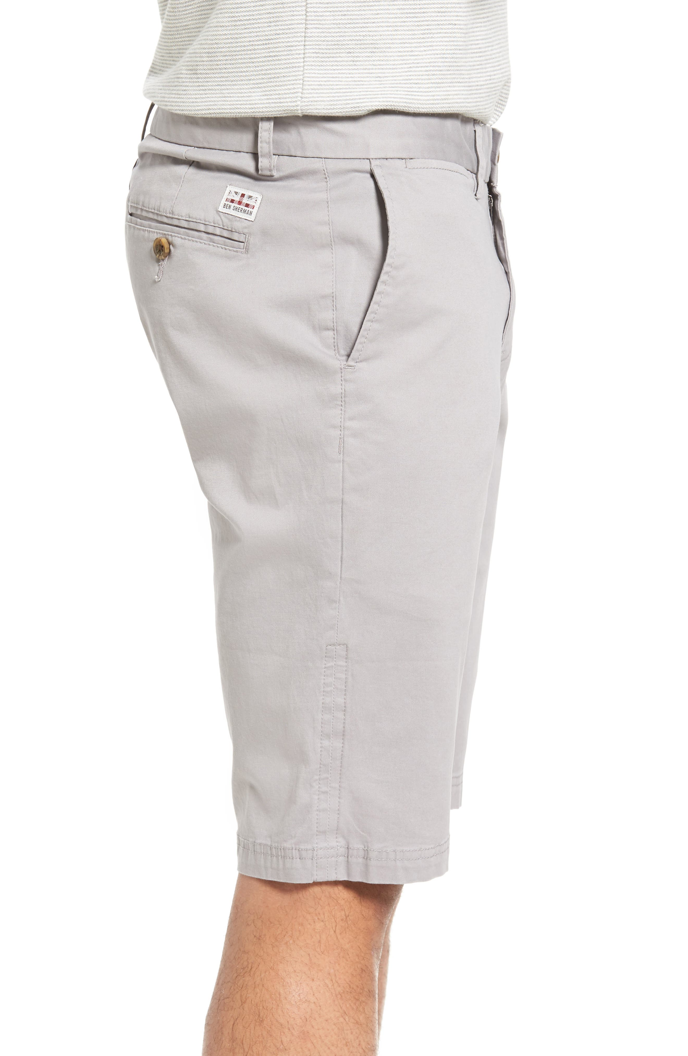 Slim Stretch Chino Shorts,                             Alternate thumbnail 3, color,                             020