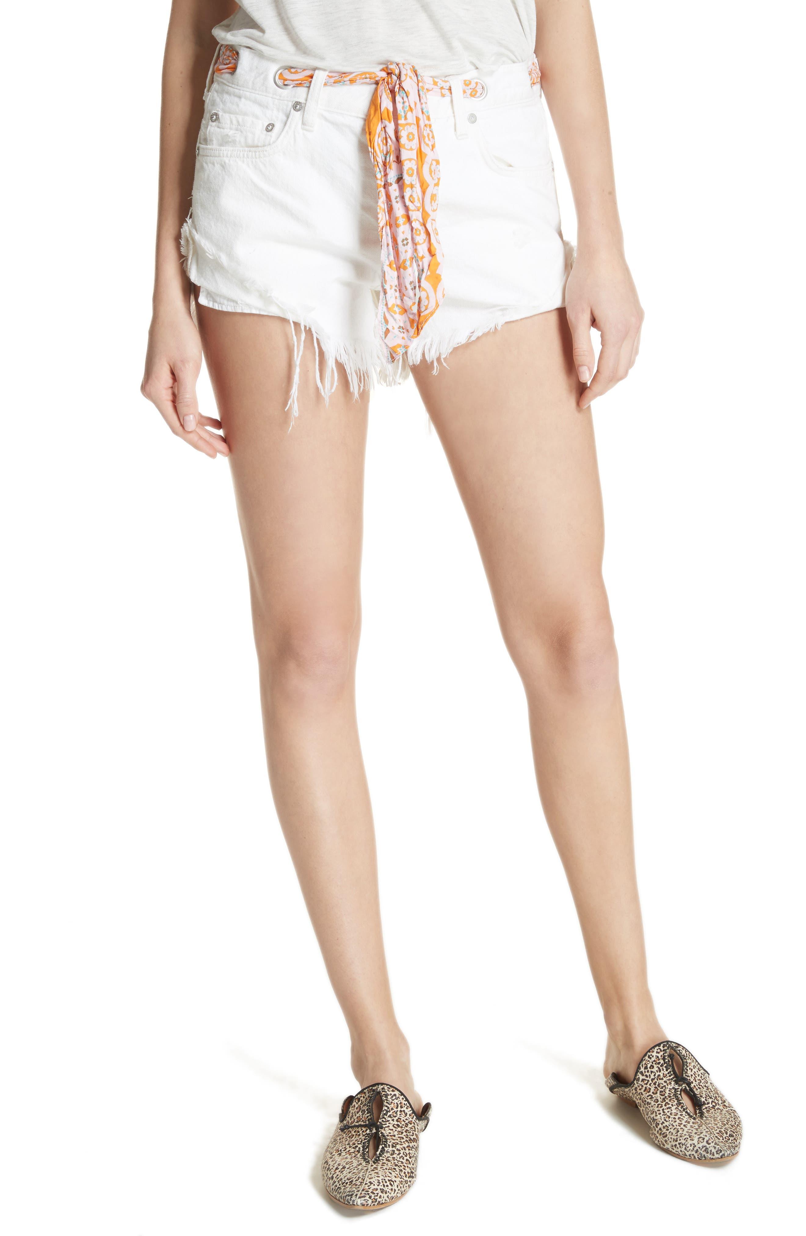 Cutoff Denim Shorts,                             Main thumbnail 1, color,