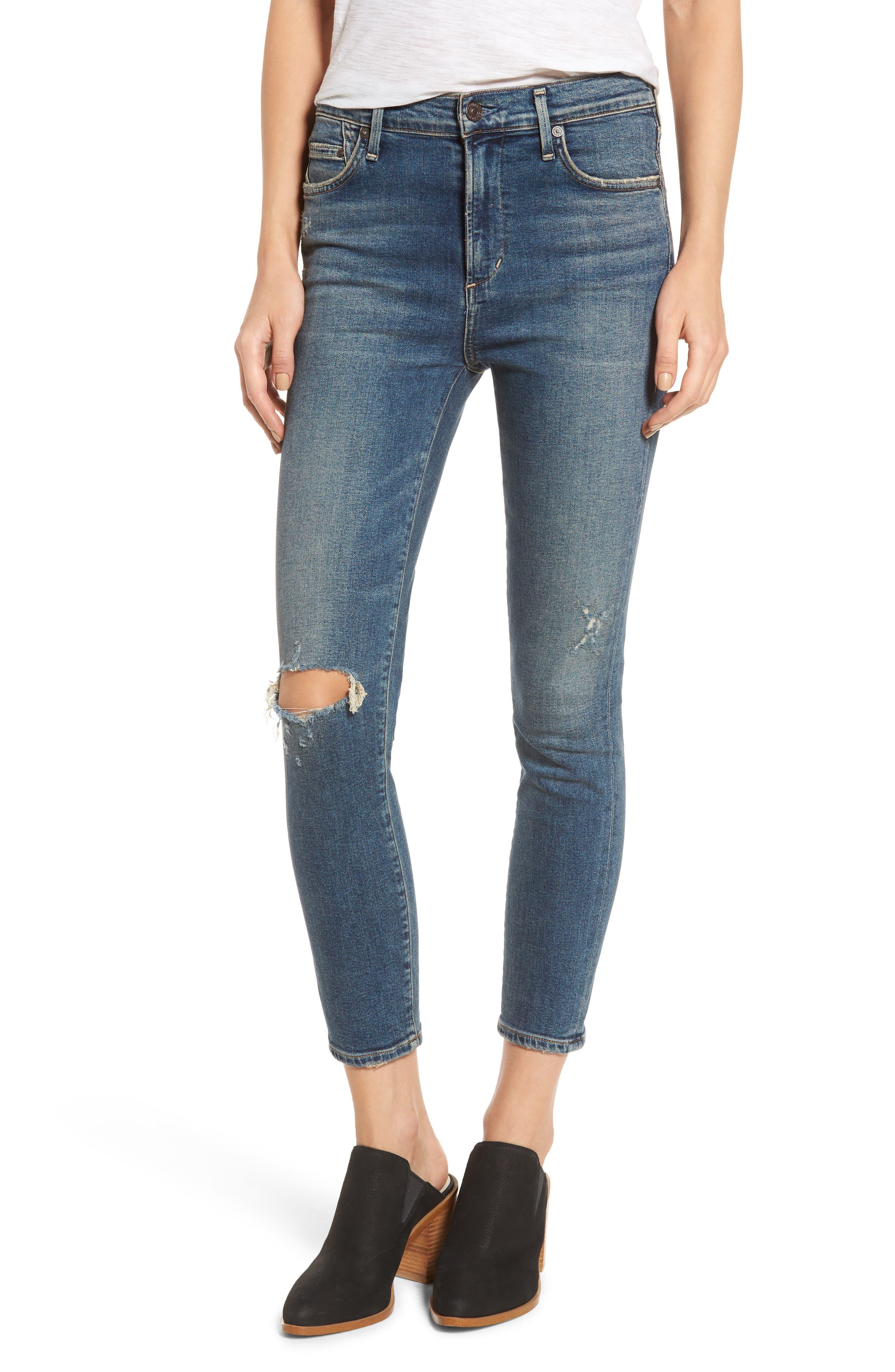 Rocket Crop Skinny Jeans,                             Main thumbnail 1, color,                             405