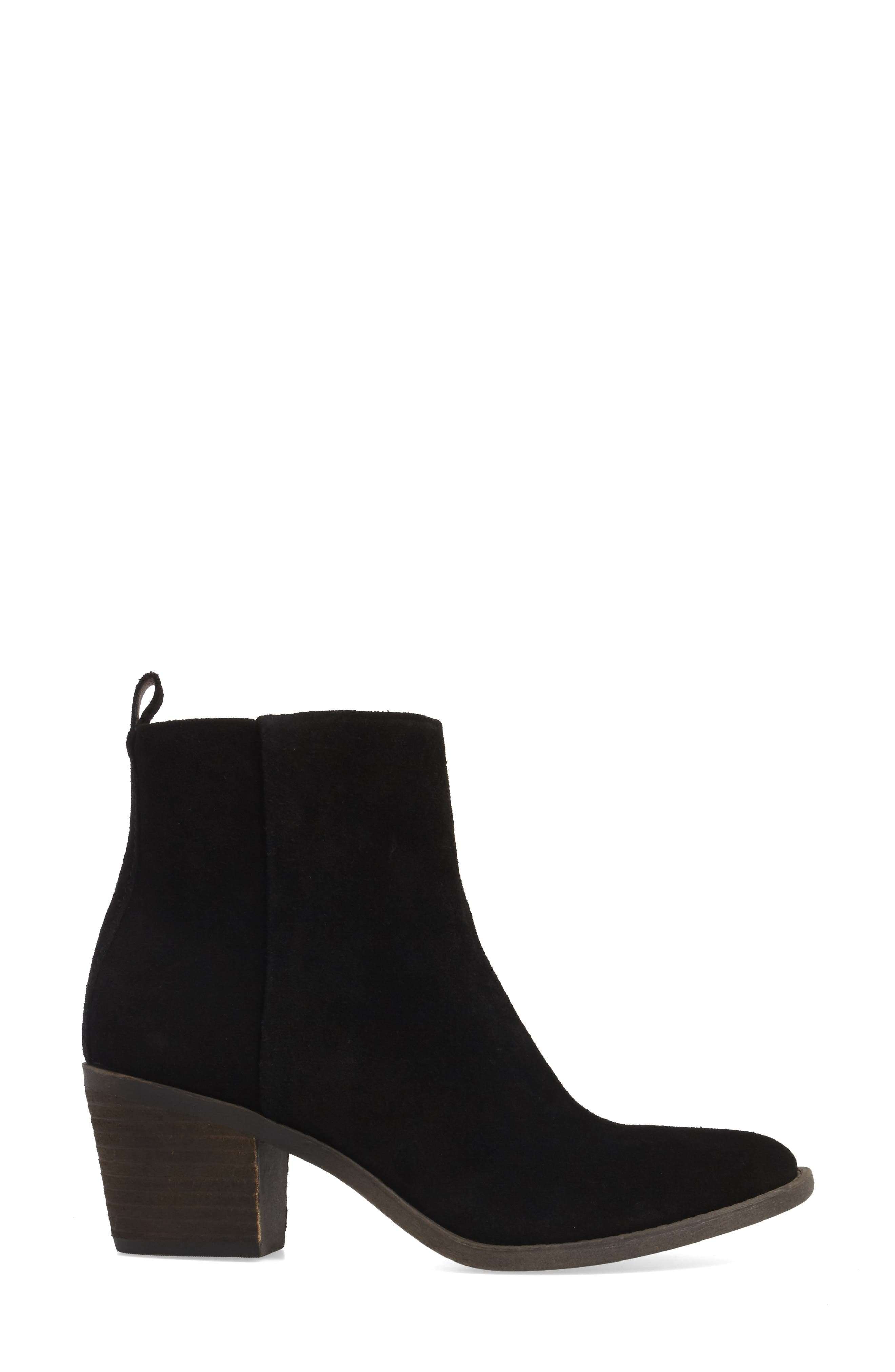 LUCKY BRAND,                             Natania Bootie,                             Alternate thumbnail 3, color,                             001