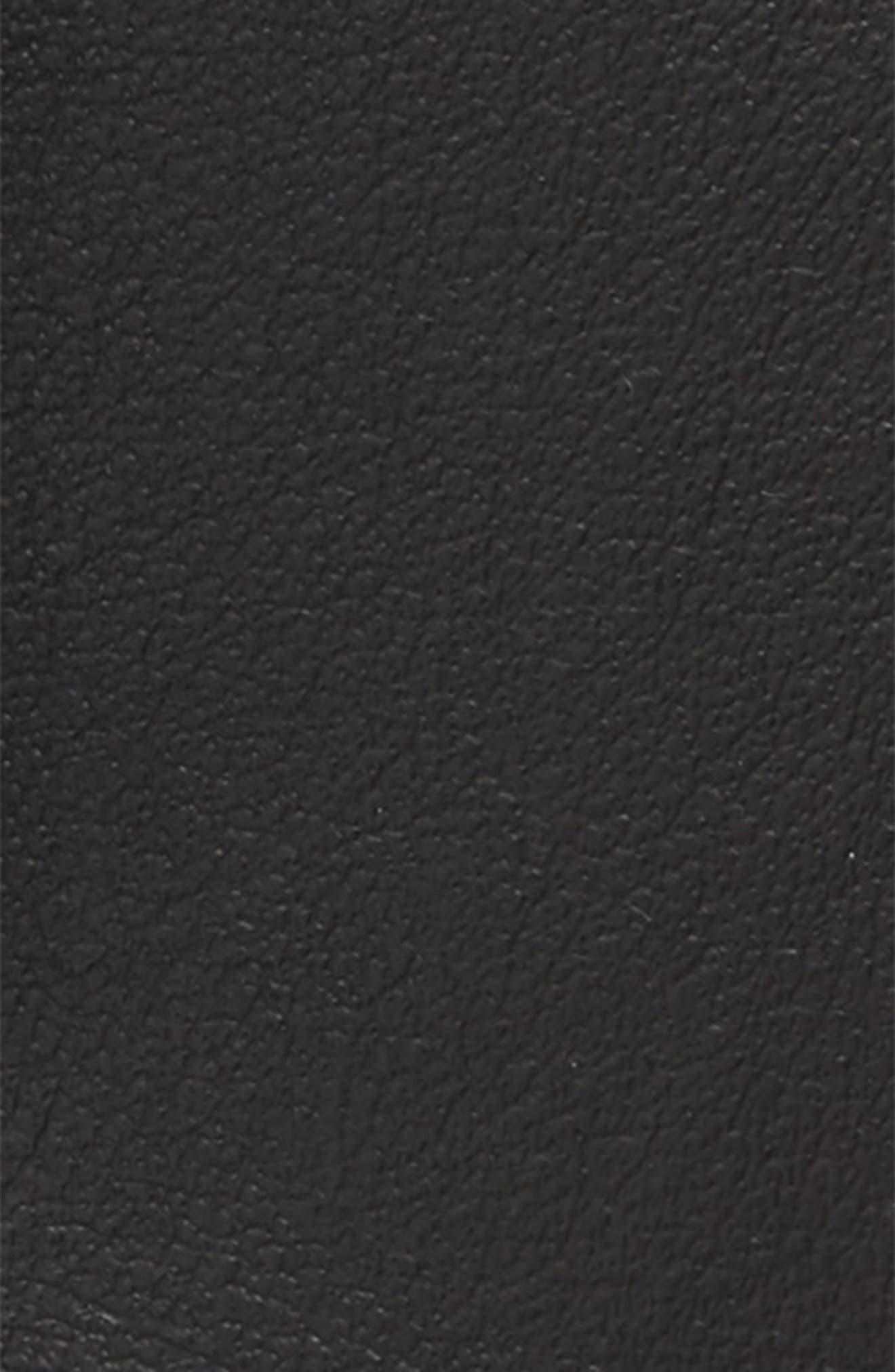Leather Belt,                             Alternate thumbnail 3, color,                             NERO