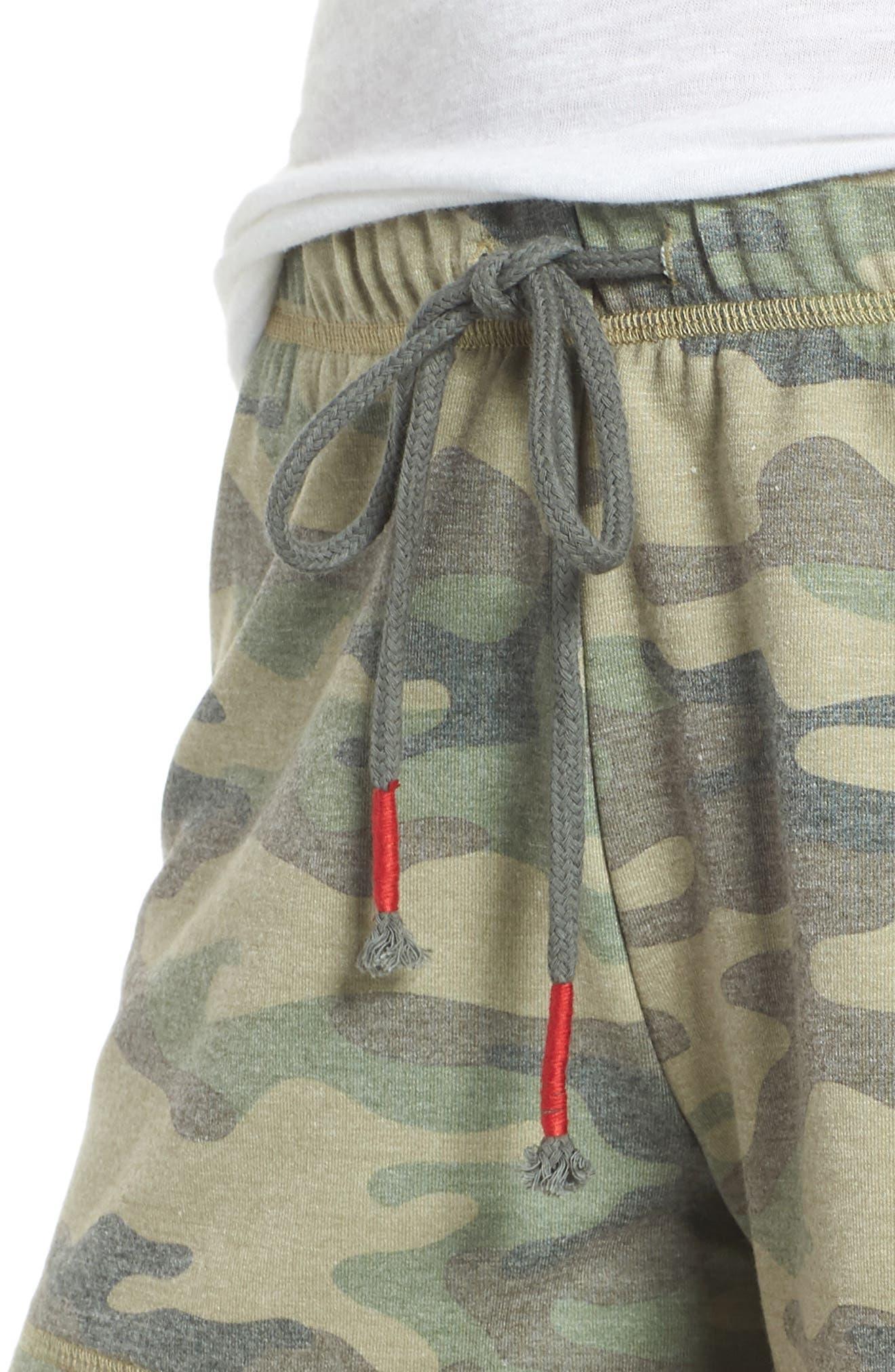 Pajama Shorts,                             Alternate thumbnail 4, color,                             OLIVE