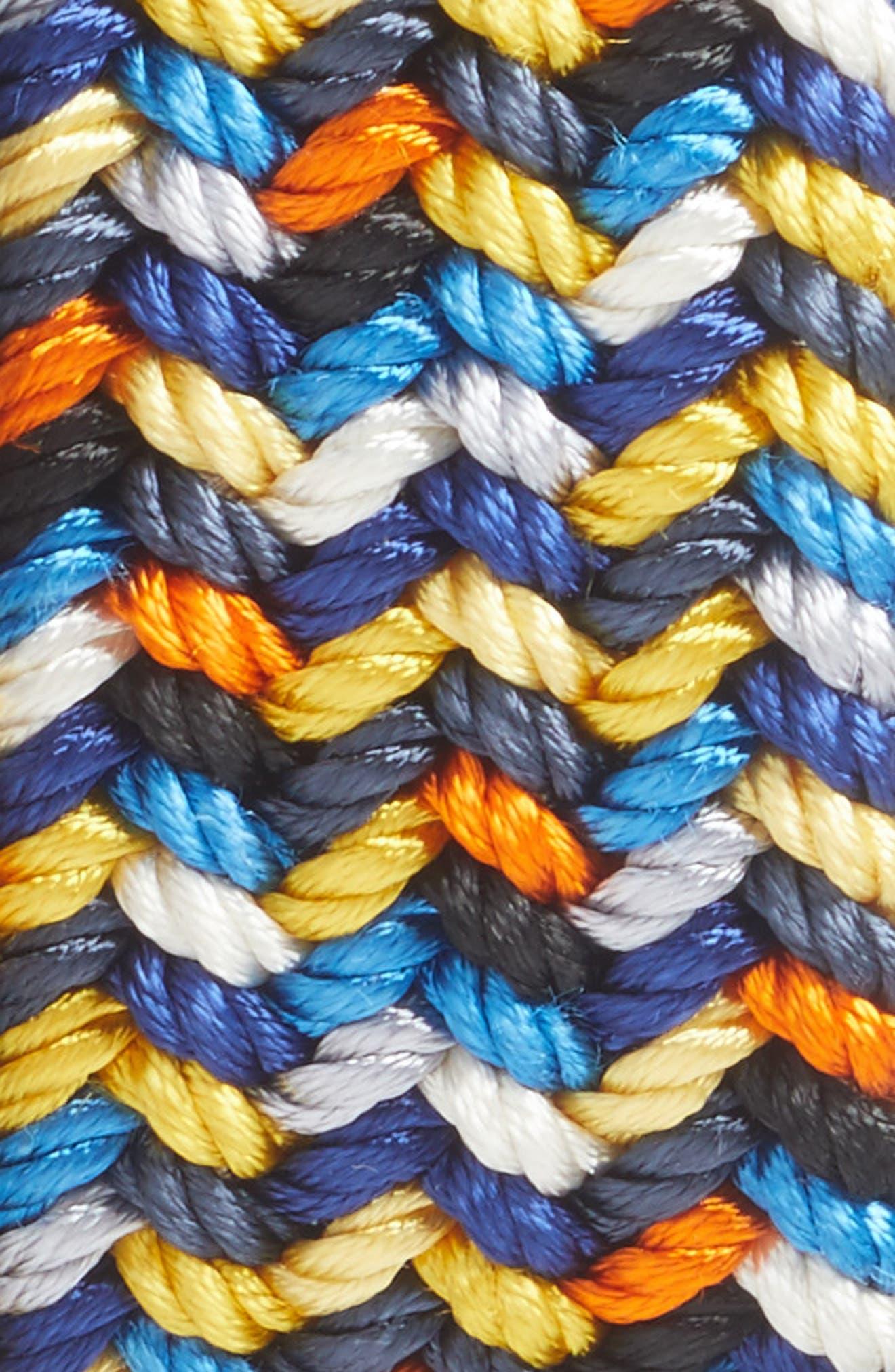 Woven Belt,                             Alternate thumbnail 2, color,                             NAVY MULTICOLOR