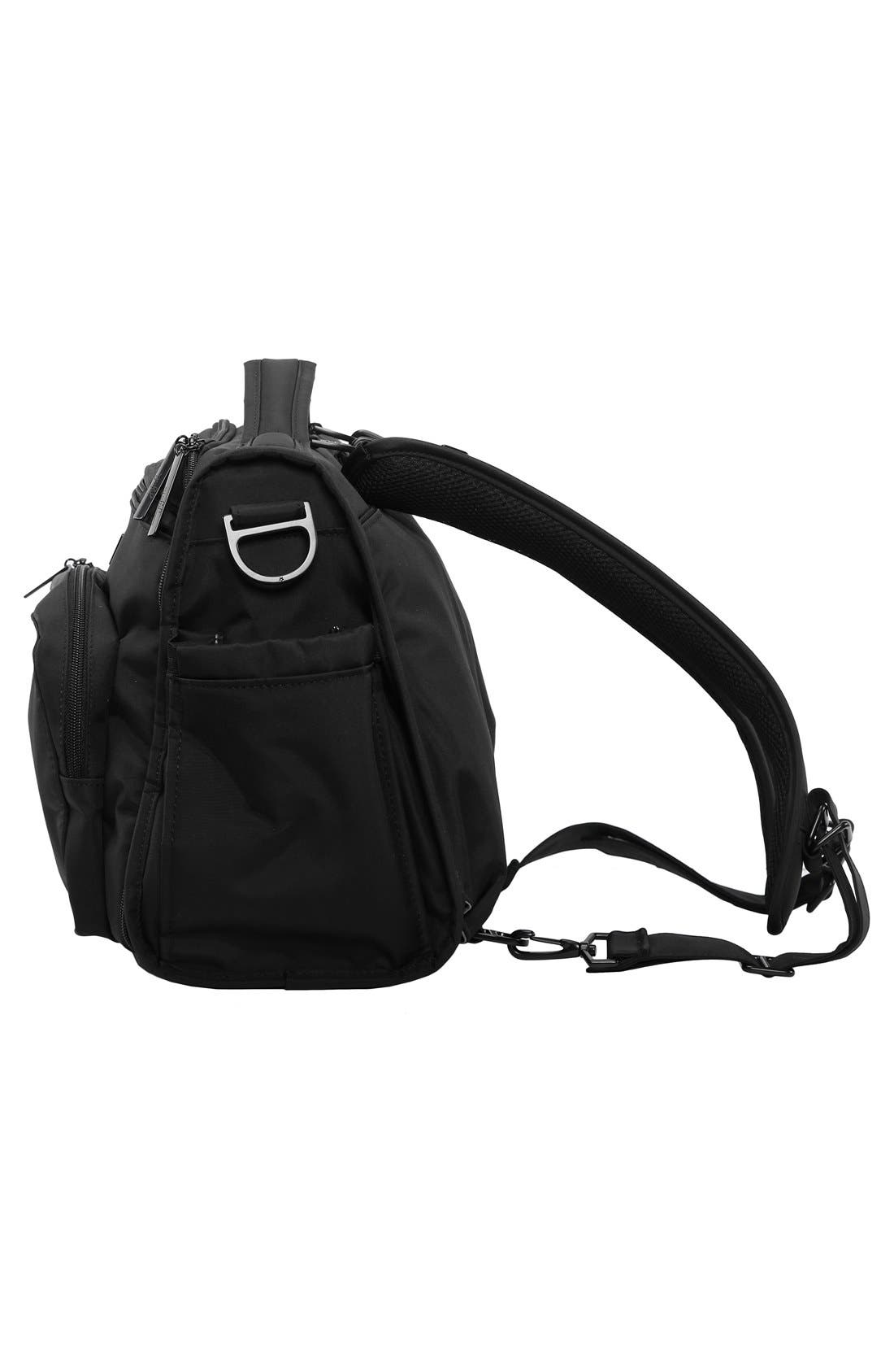 'BFF - Onyx Collection' Diaper Bag,                             Alternate thumbnail 4, color,                             BLACK OUT