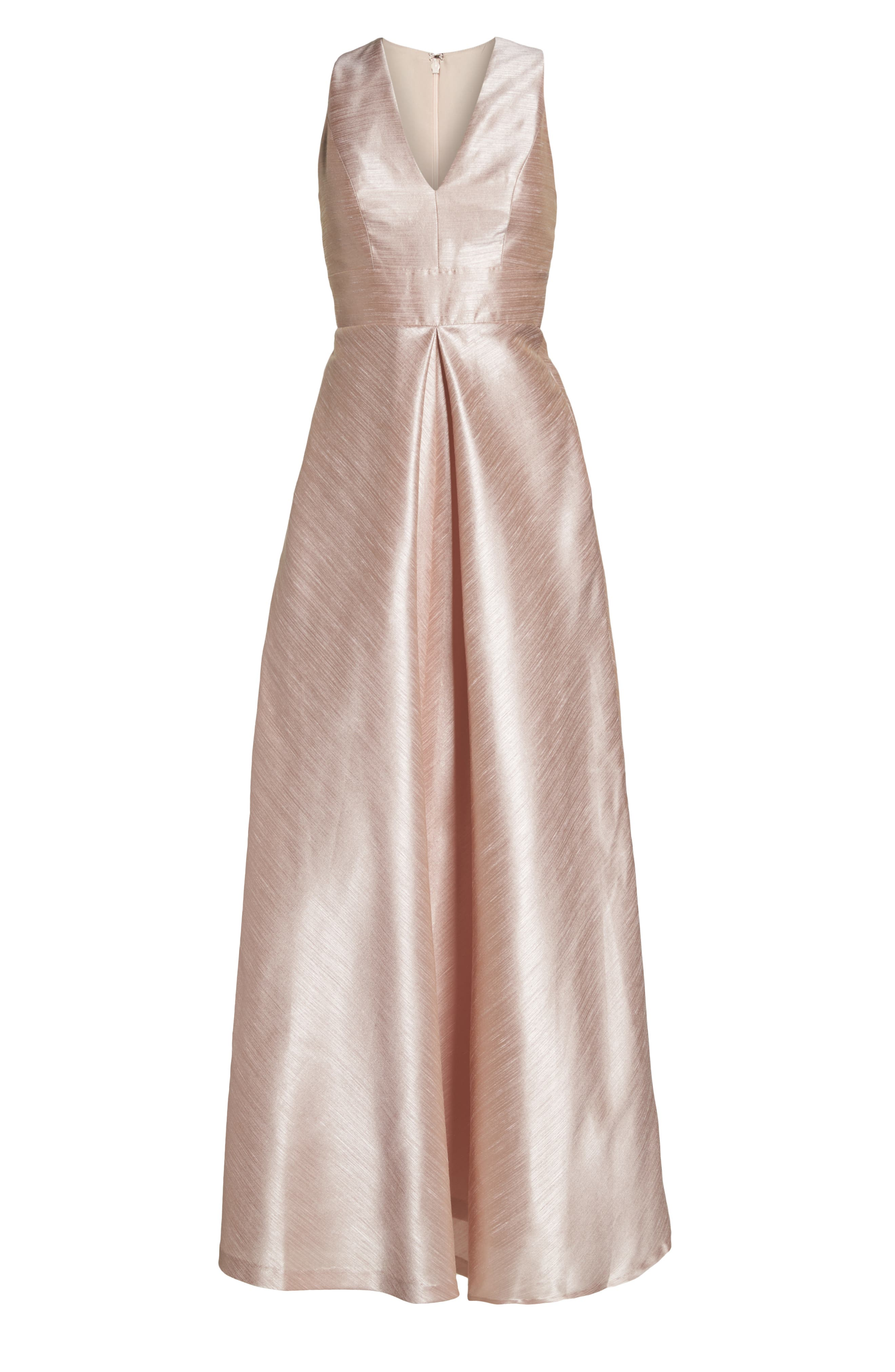 Alfred Sung Dupioni A-Line Gown, Pink