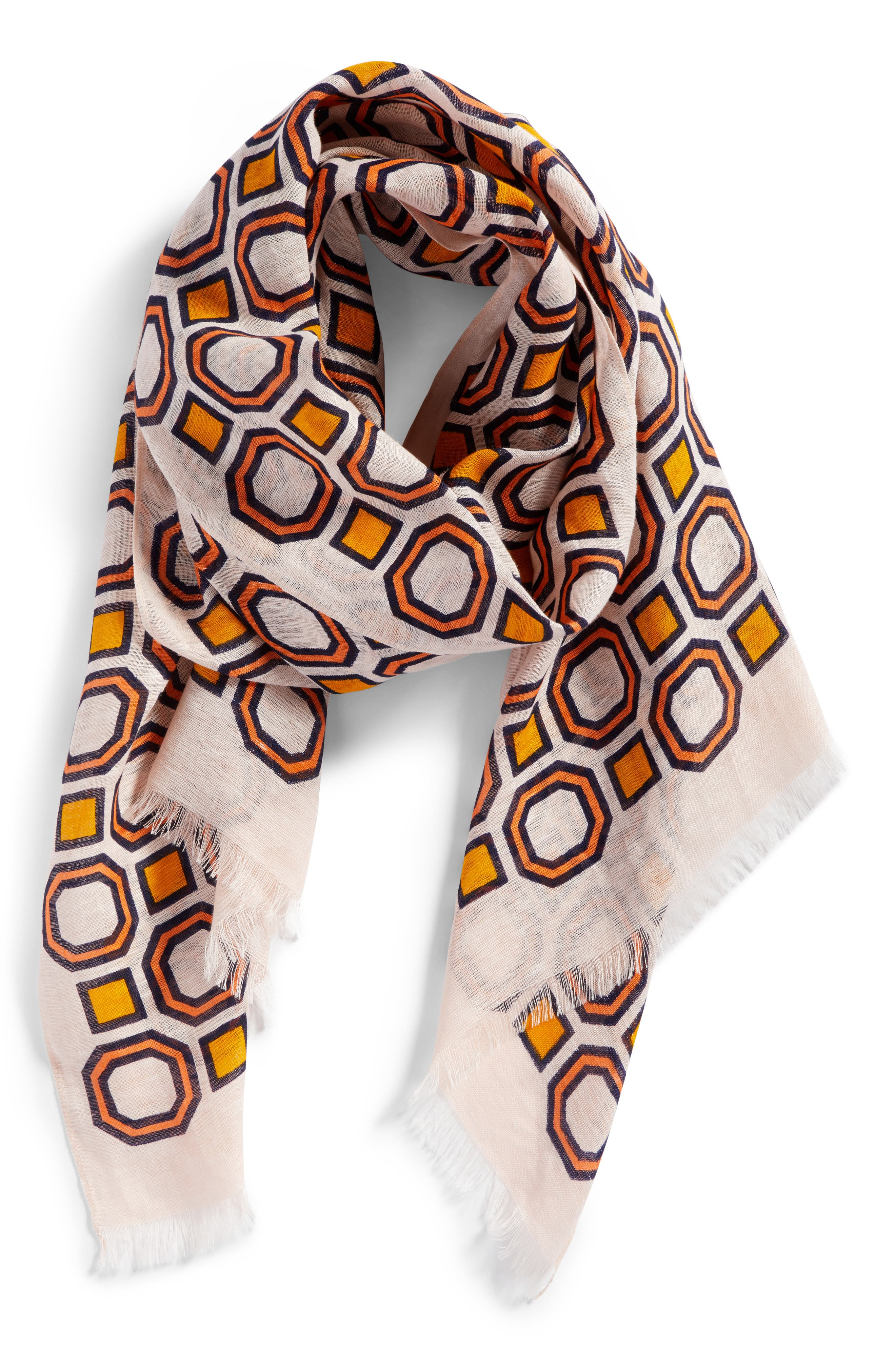 Geo Scarf,                             Alternate thumbnail 4, color,
