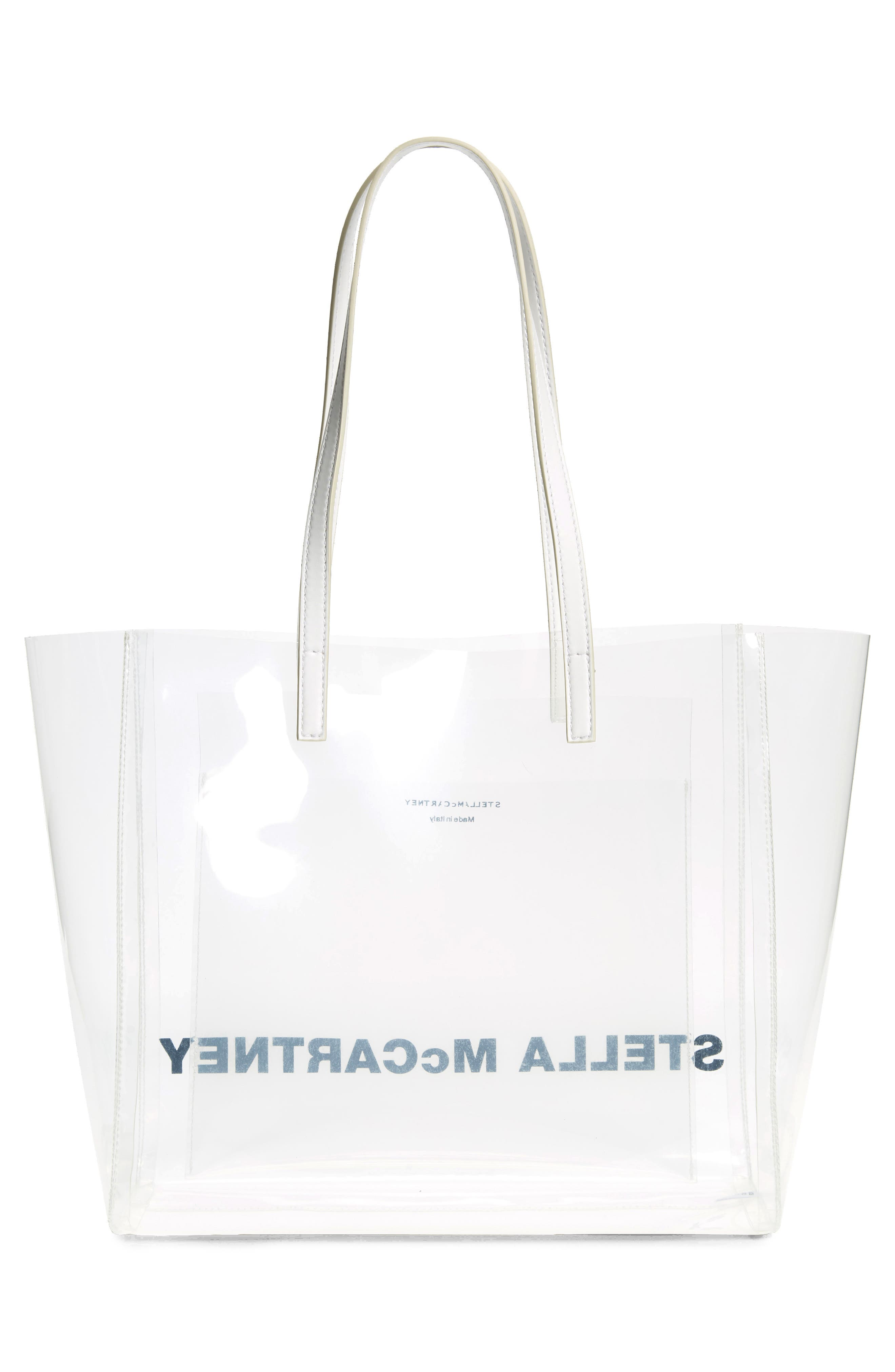 Clear Logo Tote,                             Alternate thumbnail 3, color,                             CLEAR