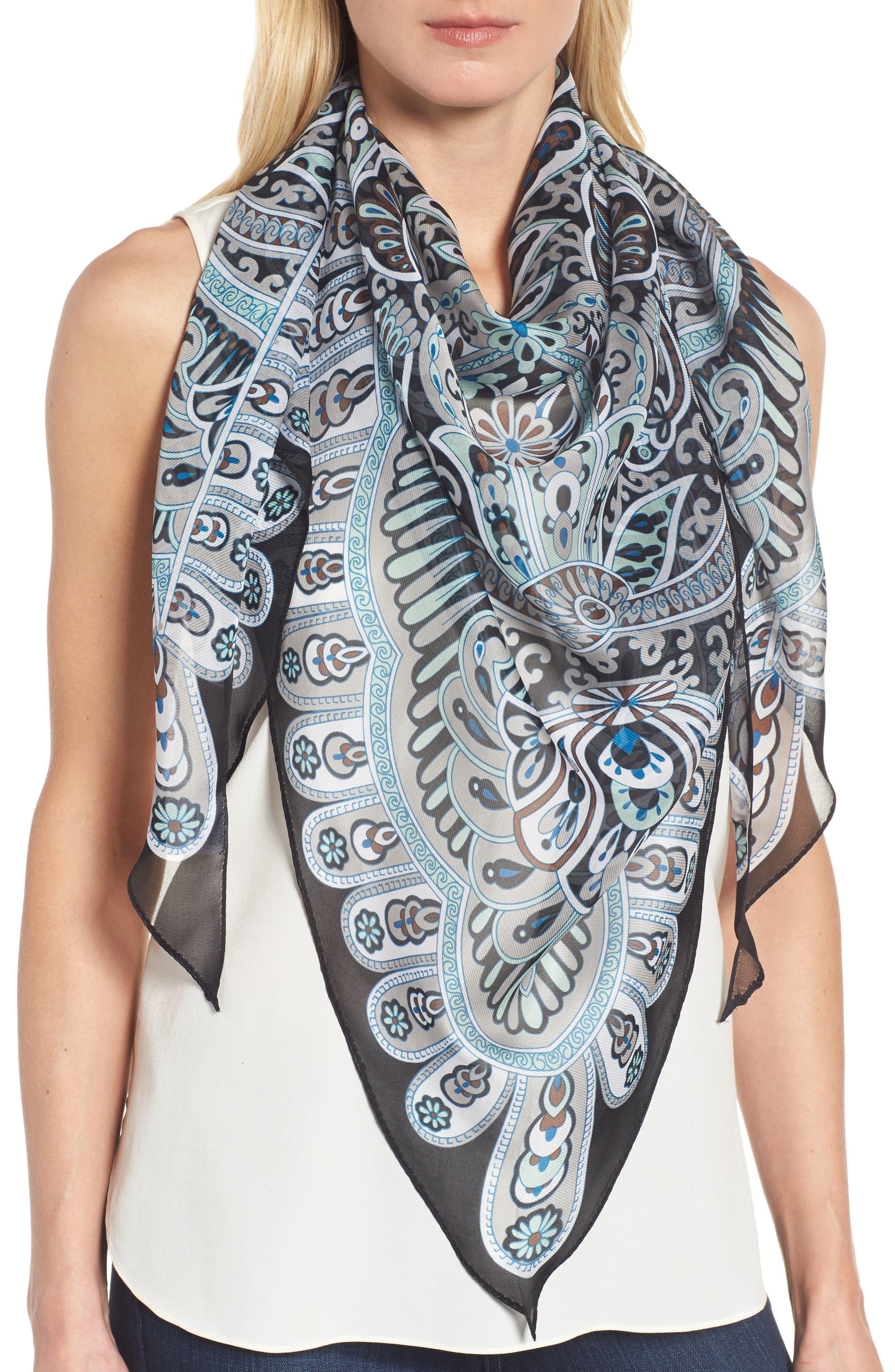 San Lazaro Silk Scarf,                         Main,                         color,