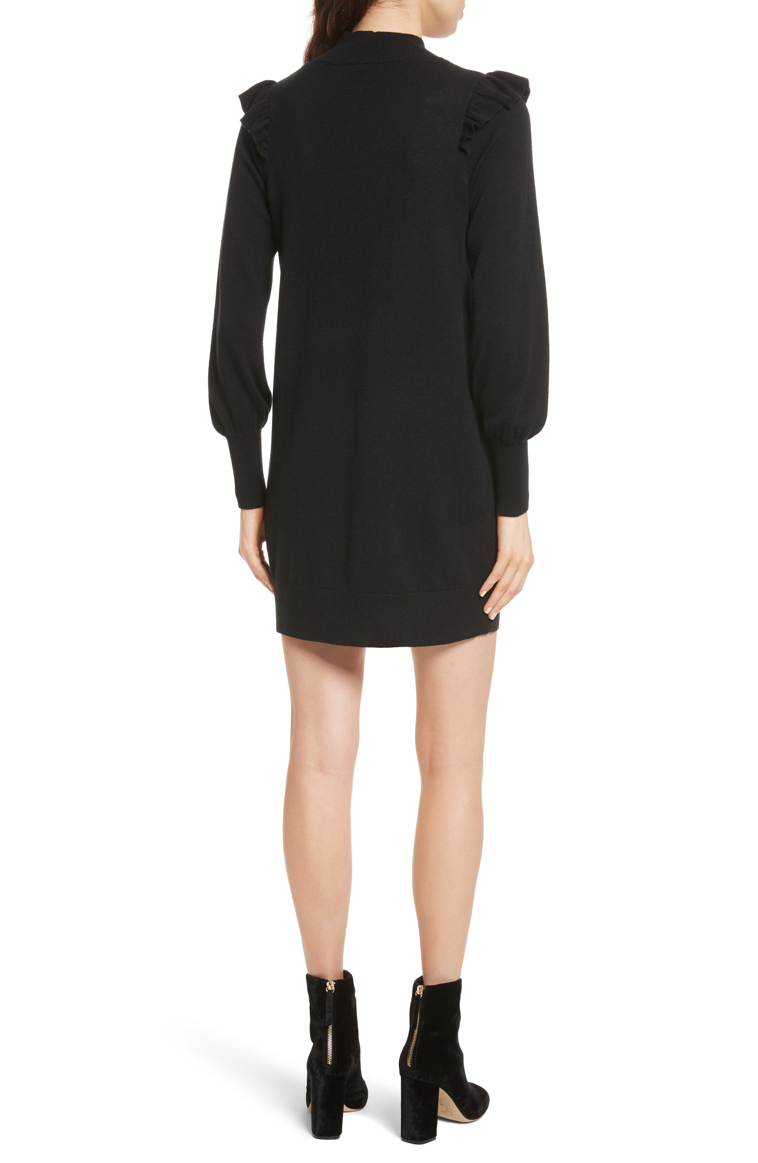 Catriona Wool & Silk Sweater Dress,                             Alternate thumbnail 2, color,                             002
