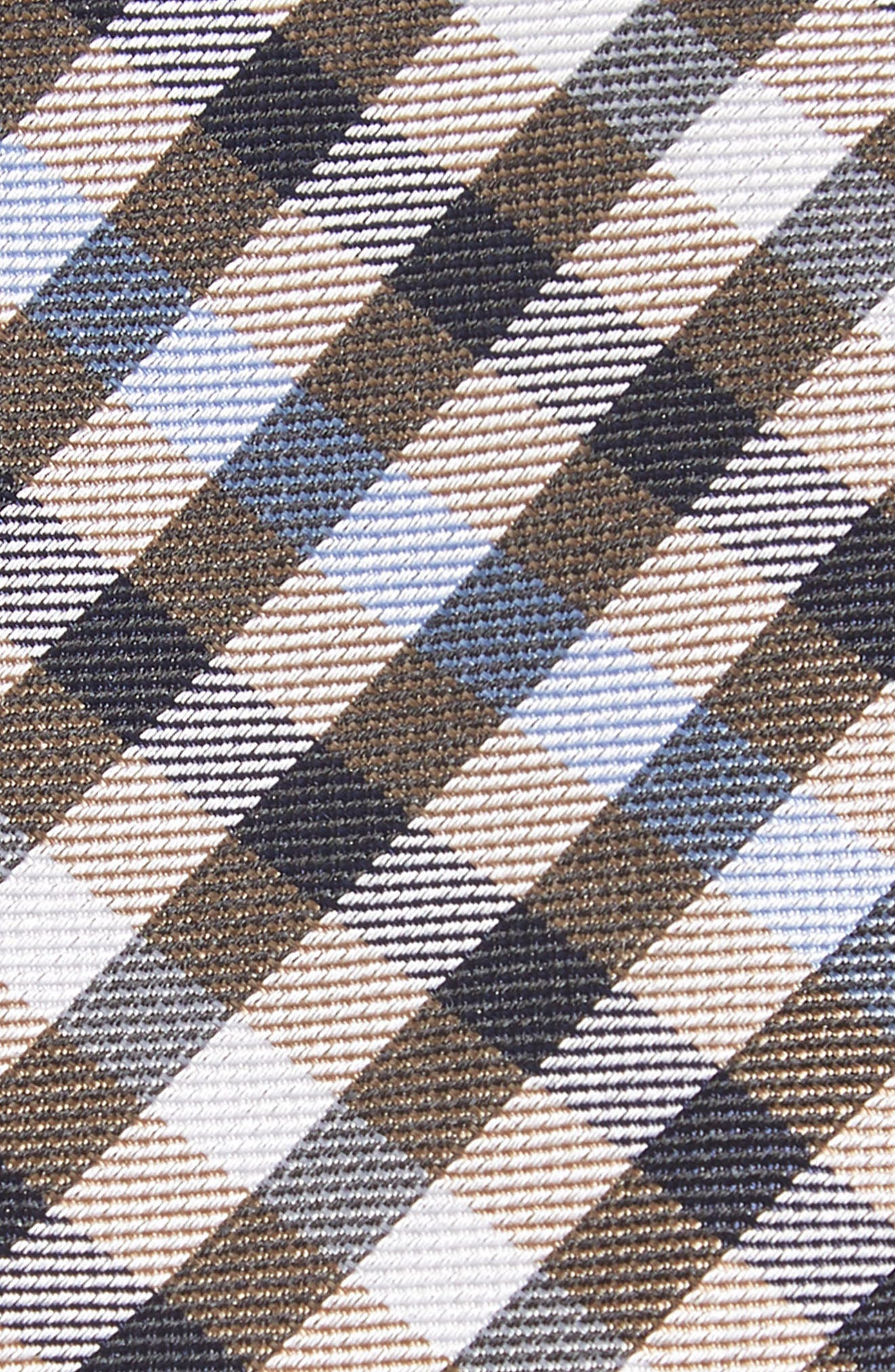 Wynant Check Skinny Silk Tie,                             Alternate thumbnail 2, color,                             TAUPE