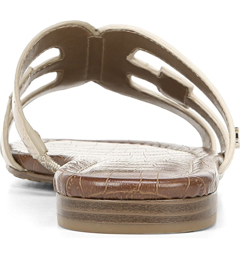 579cd185a88f Sam Edelman Bay Cutout Slide Sandal In Bone  Dark Molten Gold